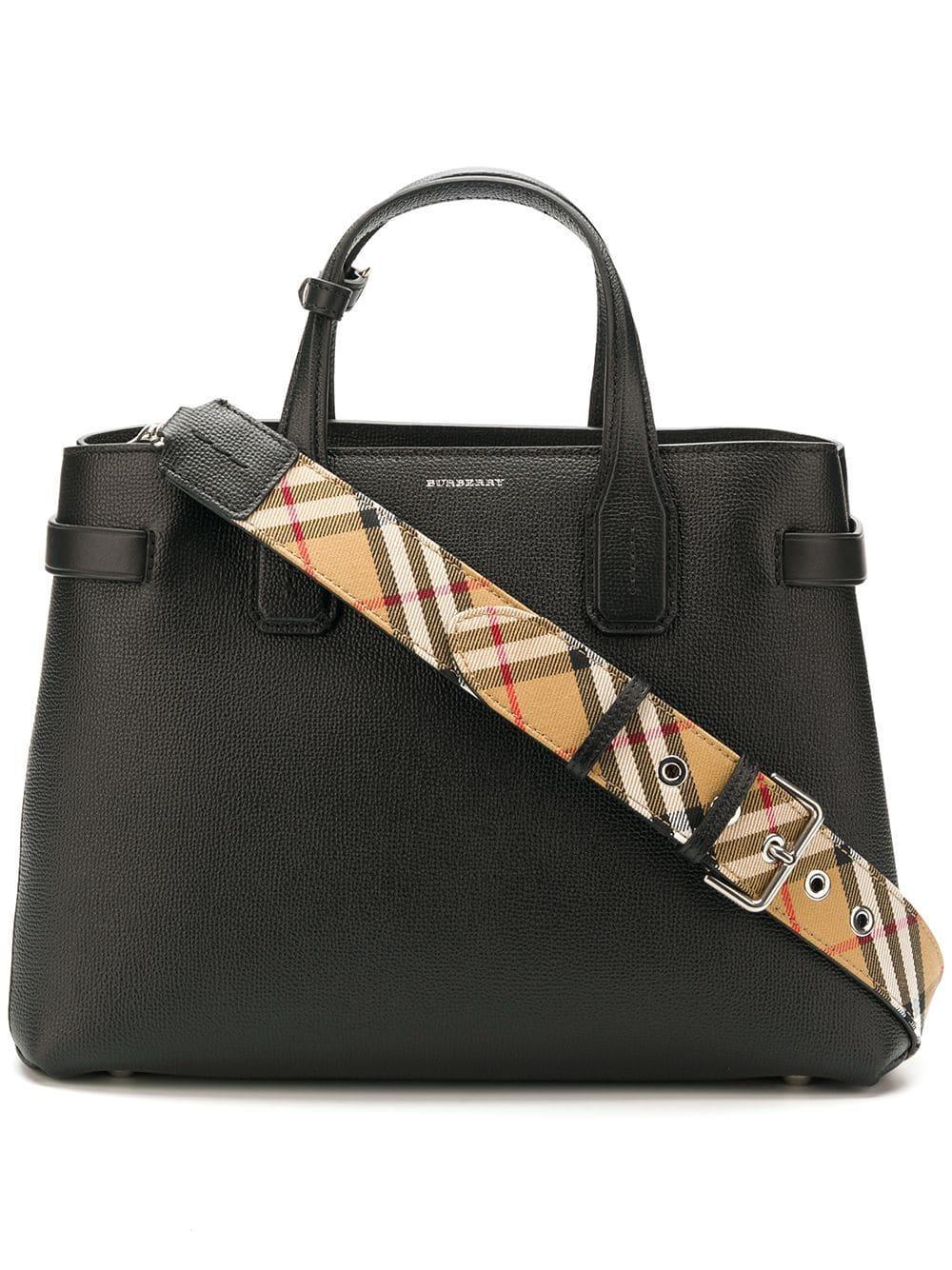 07f45667ac00 Lyst - Burberry Banner Leather Crossbody Bag in Black