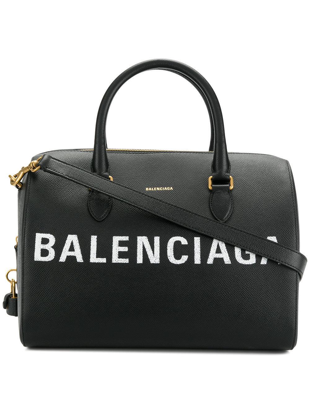 Womens Ville Leather Bowling Bag Balenciaga Mdbnzh