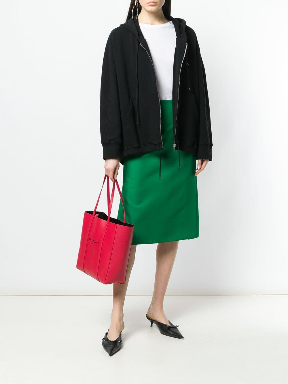 873bd1393104 Balenciaga - Red Everyday Xs Leather Tote Bag - Lyst. View fullscreen