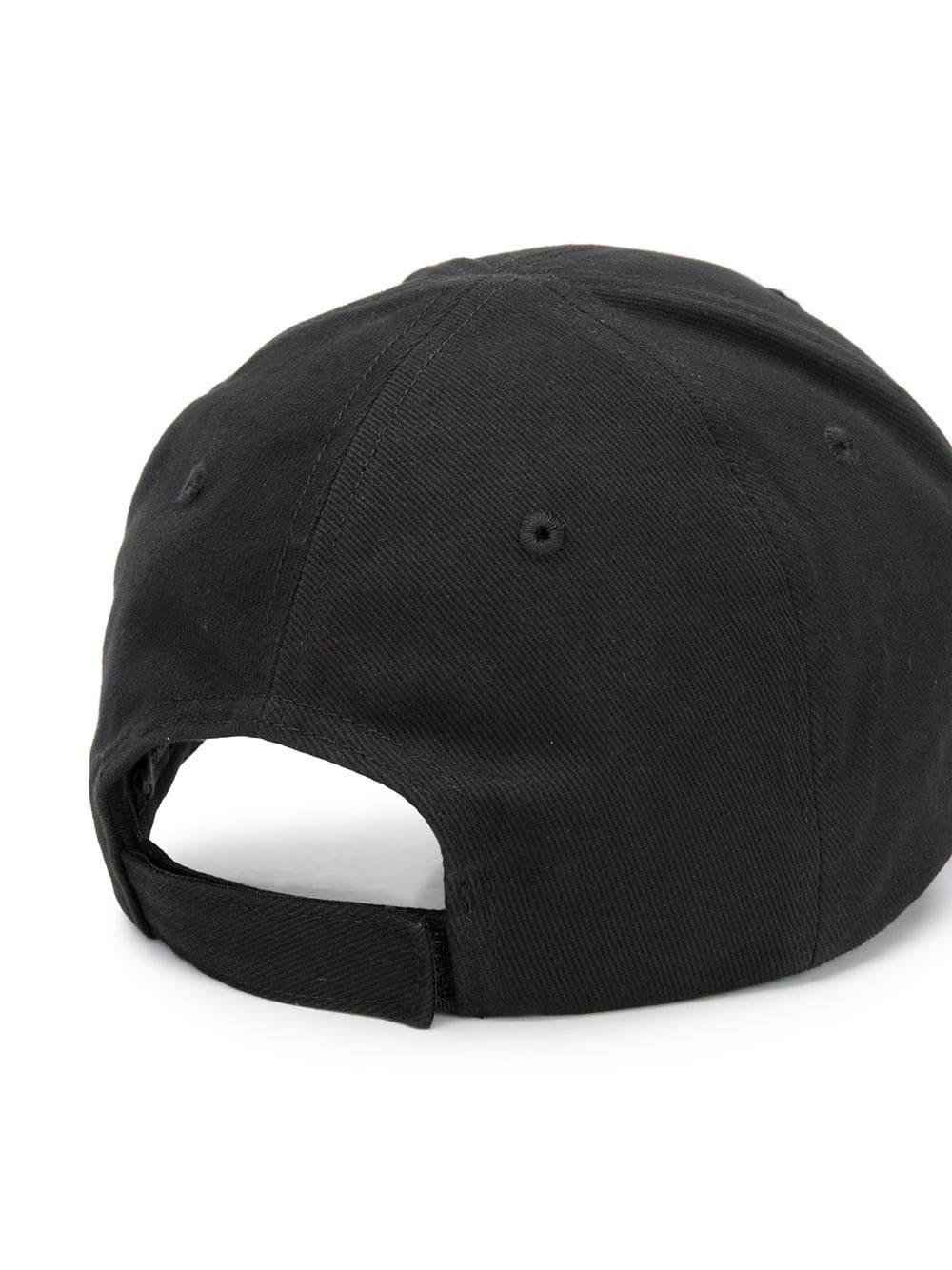 6a8f697029f Balenciaga - Black Logo Embroidered Cotton Cap for Men - Lyst. View  fullscreen
