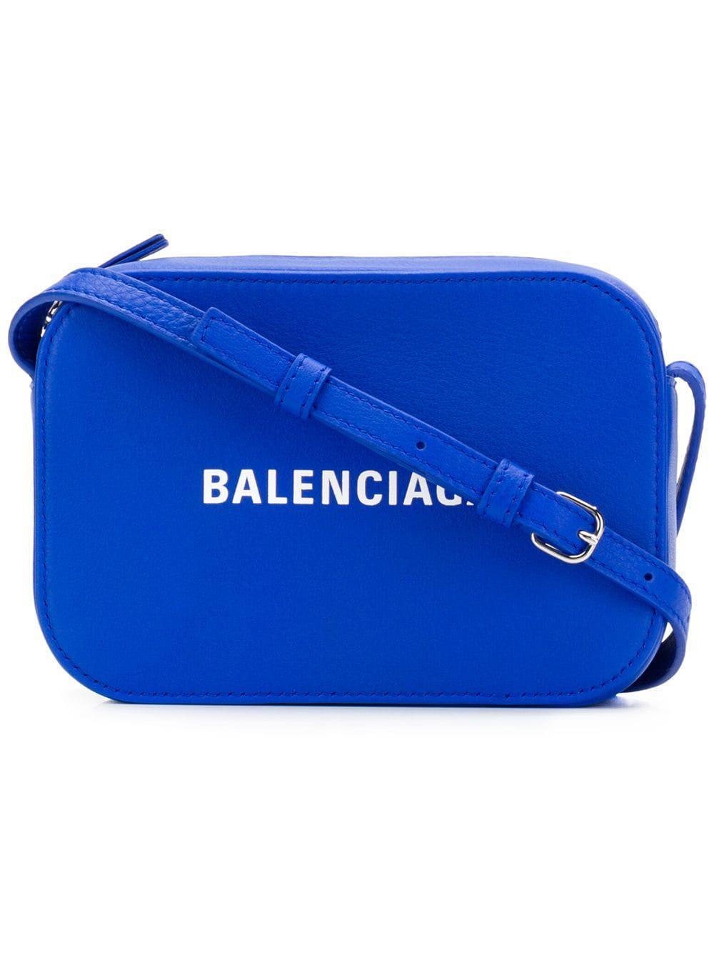 1b728f04e73c Lyst - Balenciaga Everyday Xs Leather Camera Bag in Blue - Save 10%