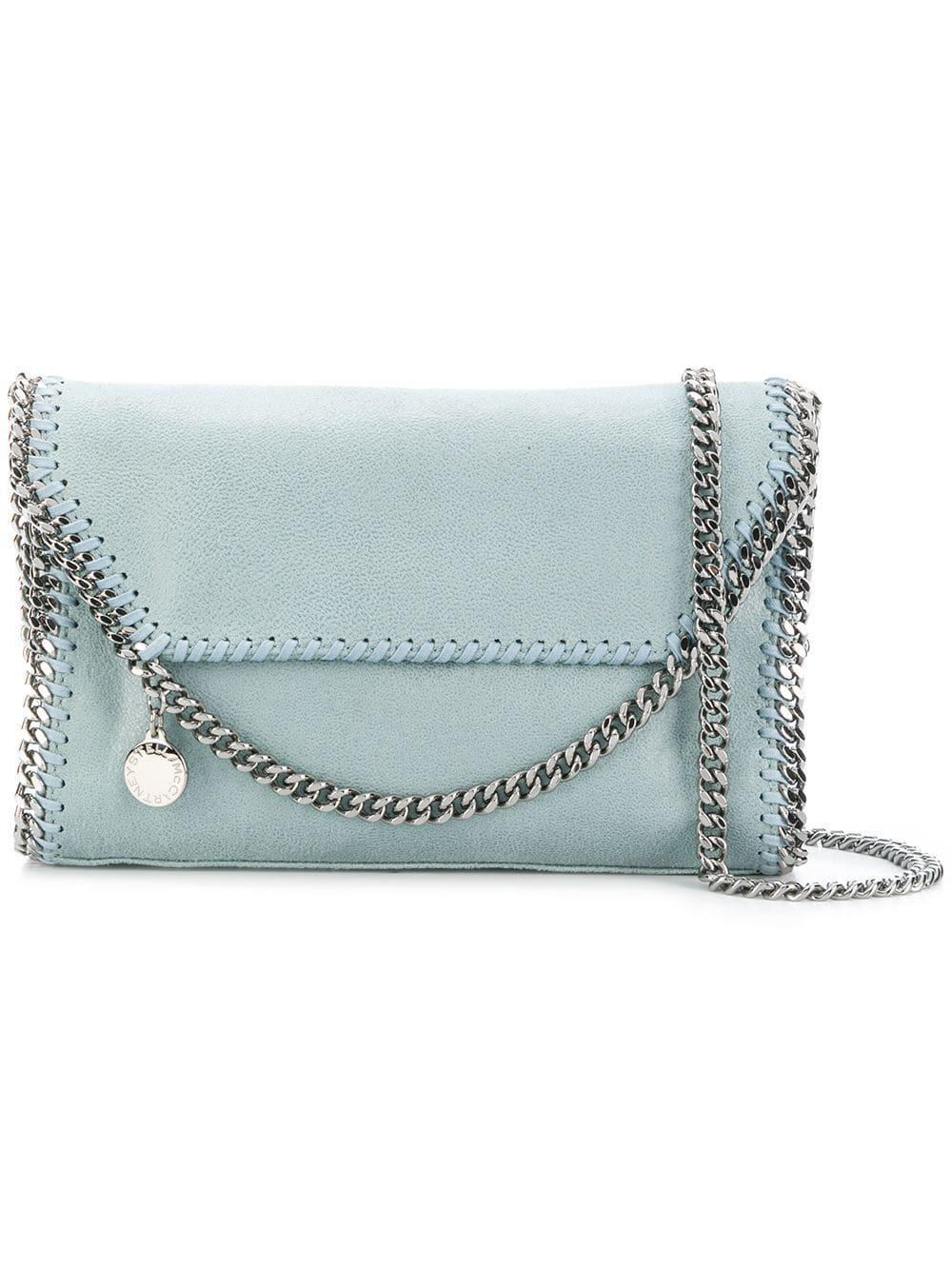 a053fd29683 Stella Mccartney Falabella Mini Shoulder Bag in Blue - Lyst