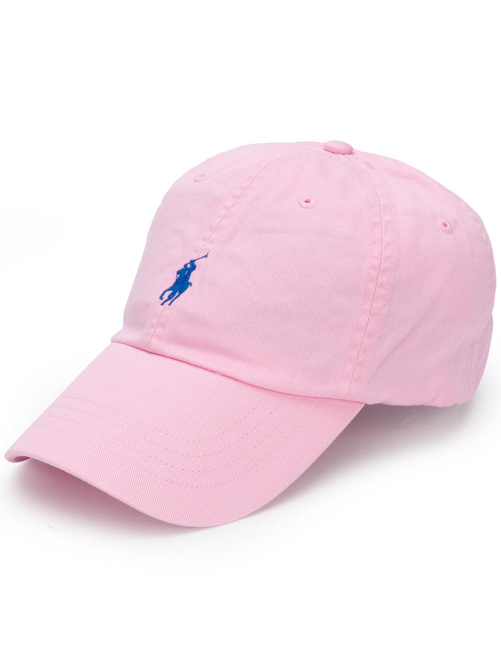 01479af1ad5b2 Polo Ralph Lauren Cotton Baseball Hat in Pink for Men - Lyst