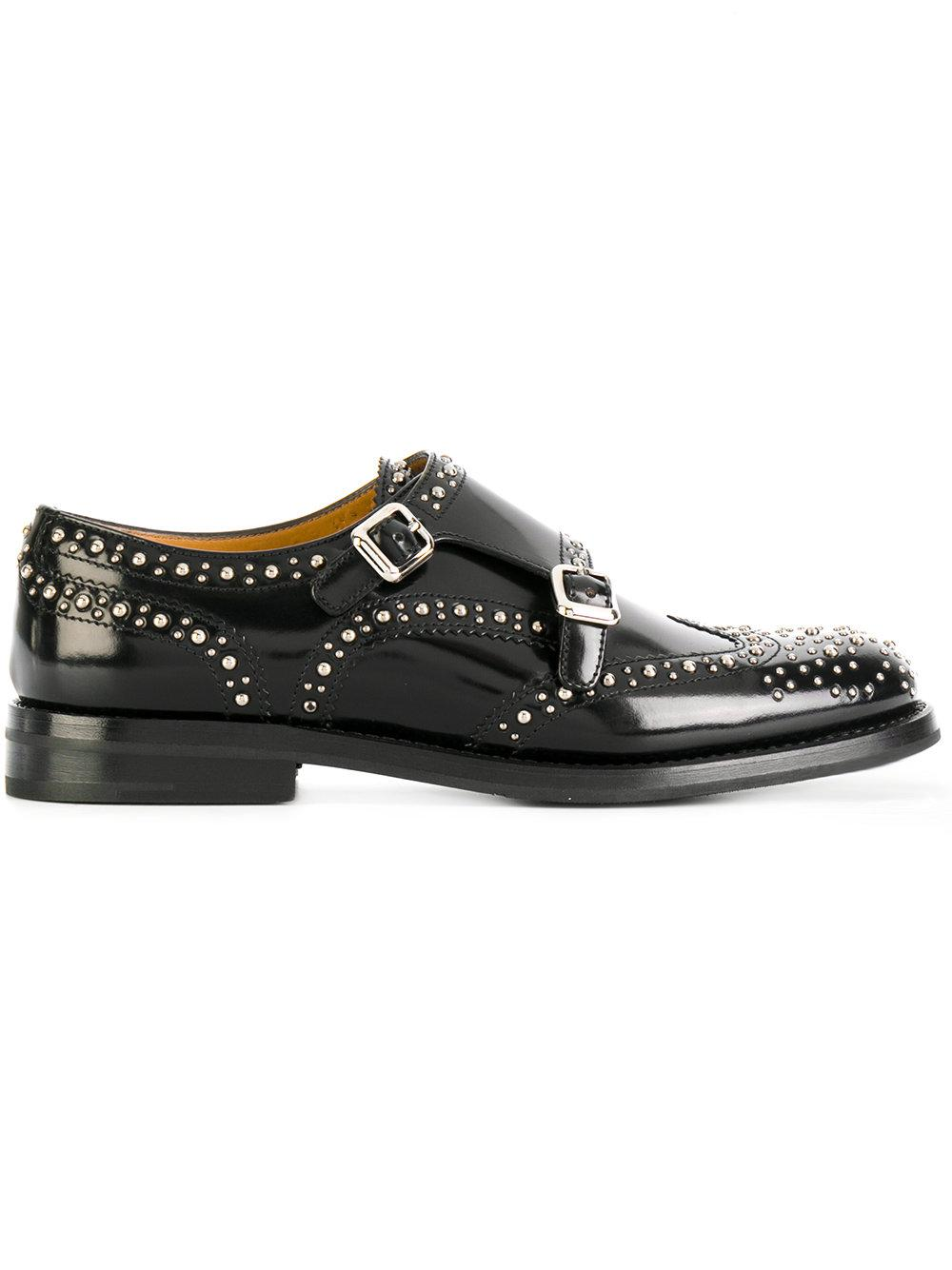 Church's Lana Leather Shoes With Double Monk Strap NzkPgg6