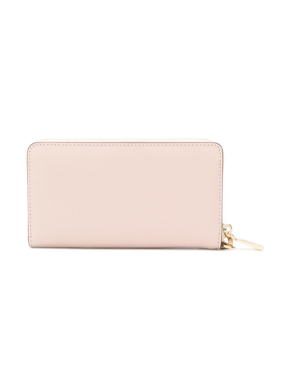 1748bd3a299b MICHAEL Michael Kors - Pink Leather Wristlet Pouch - Lyst. View fullscreen