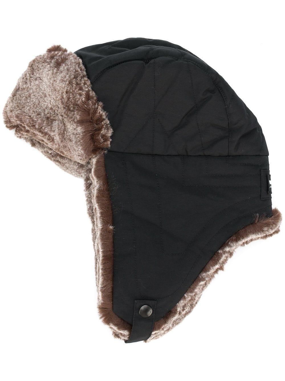 0ab266cc Woolrich - Black Faux-fur Contrast Hat for Men - Lyst. View fullscreen