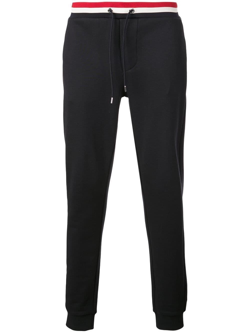 540dbb374 Lyst - Moncler Logo Jogging Pants in Blue for Men