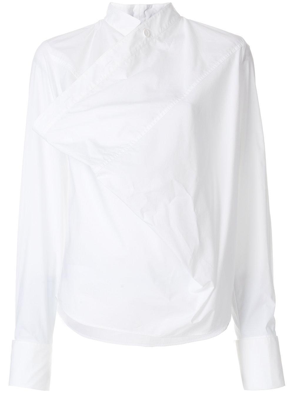 Factory Outlet Online Footlocker Finishline Sale Online Mm6 By Maison Margiela Woman Color-block Coated Cotton-jersey Top White Size L Maison Martin Margiela View Sneakernews For Sale 4qBTW96