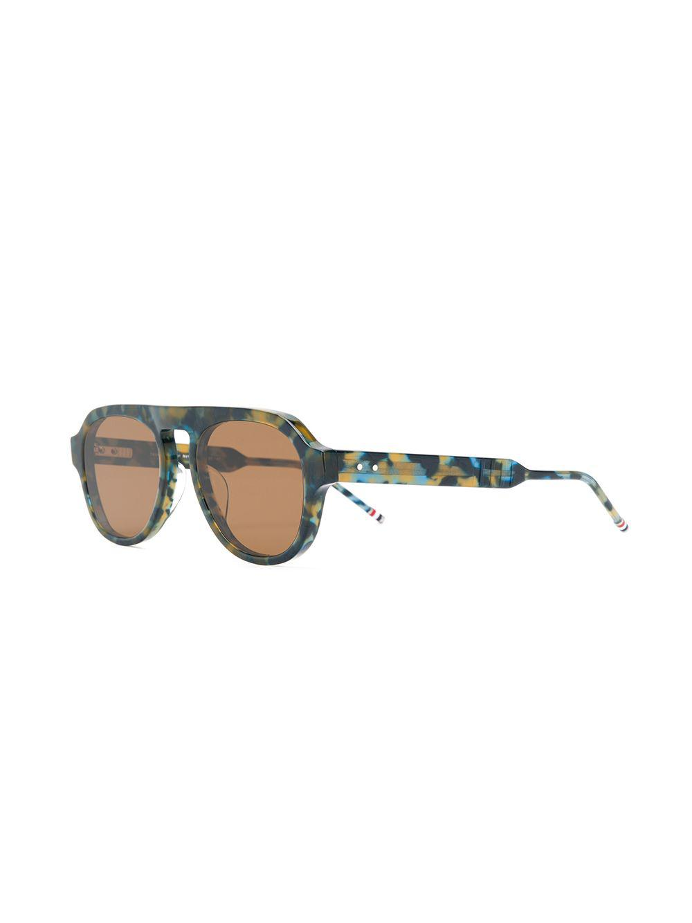 452f8c0f32 Lyst - Thom Browne Round-frame Glasses in Blue for Men
