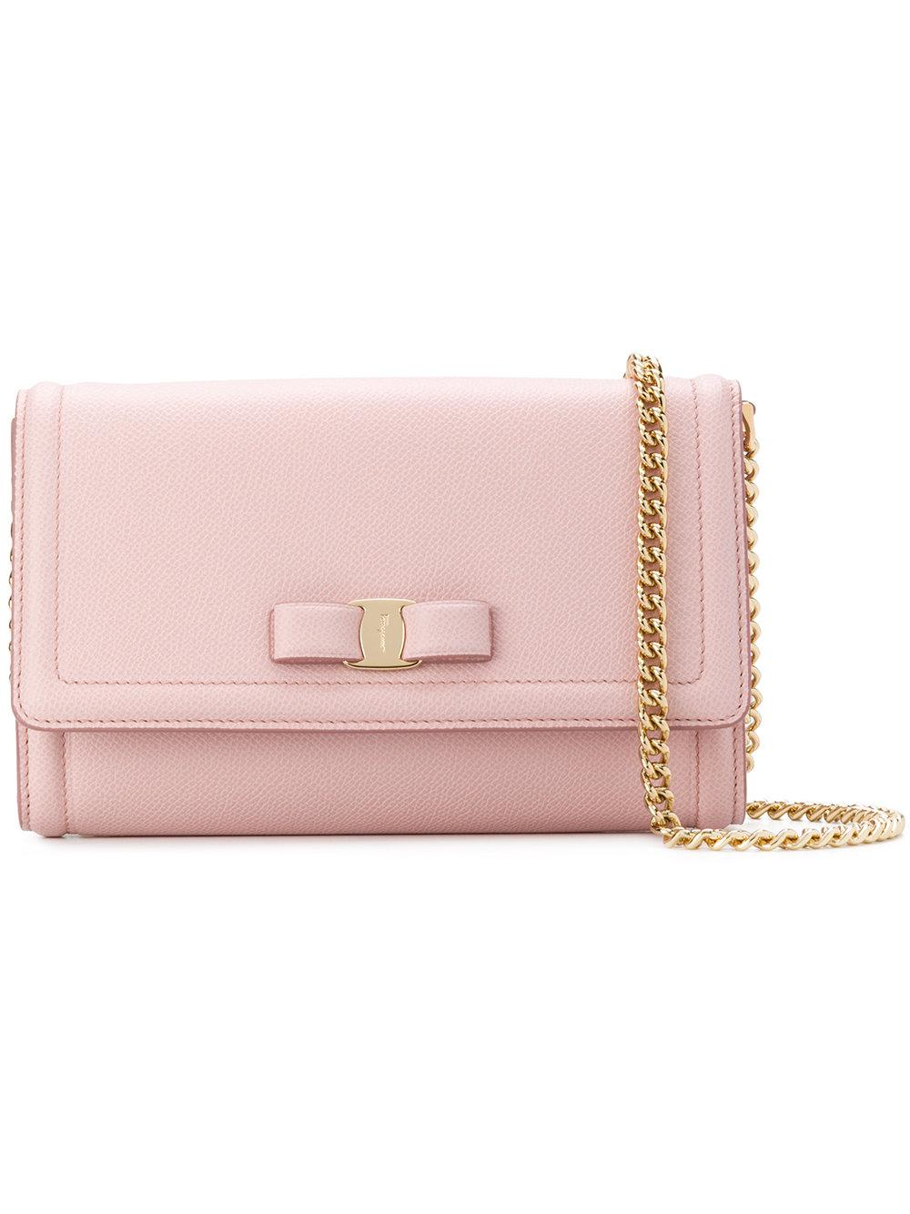 d8baf74522 Lyst - Ferragamo Vara Flap Bag in Pink - Save 1%