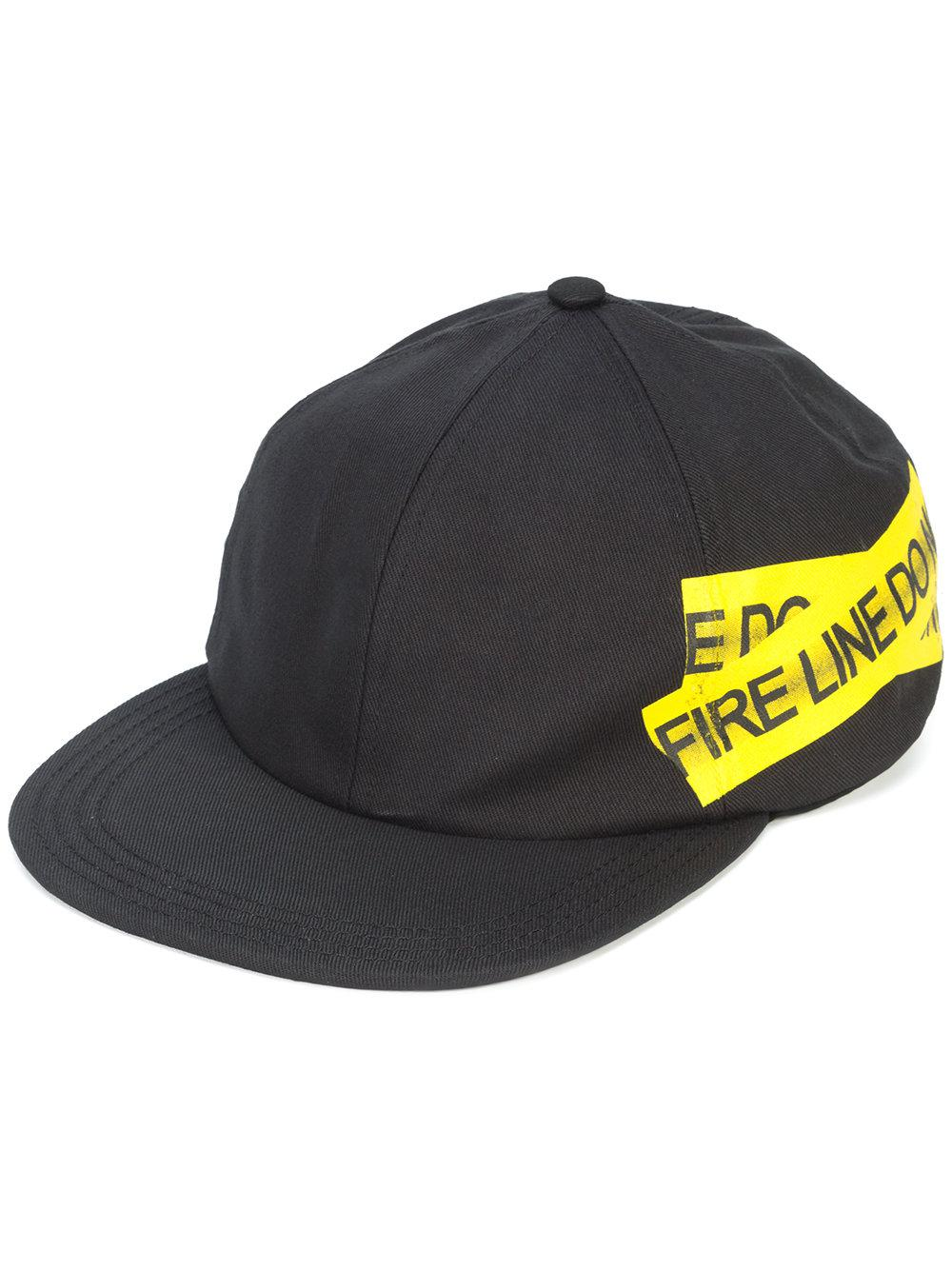 1daa92faf12baa Off-White c/o Virgil Abloh Firetape Hat in Black for Men - Lyst