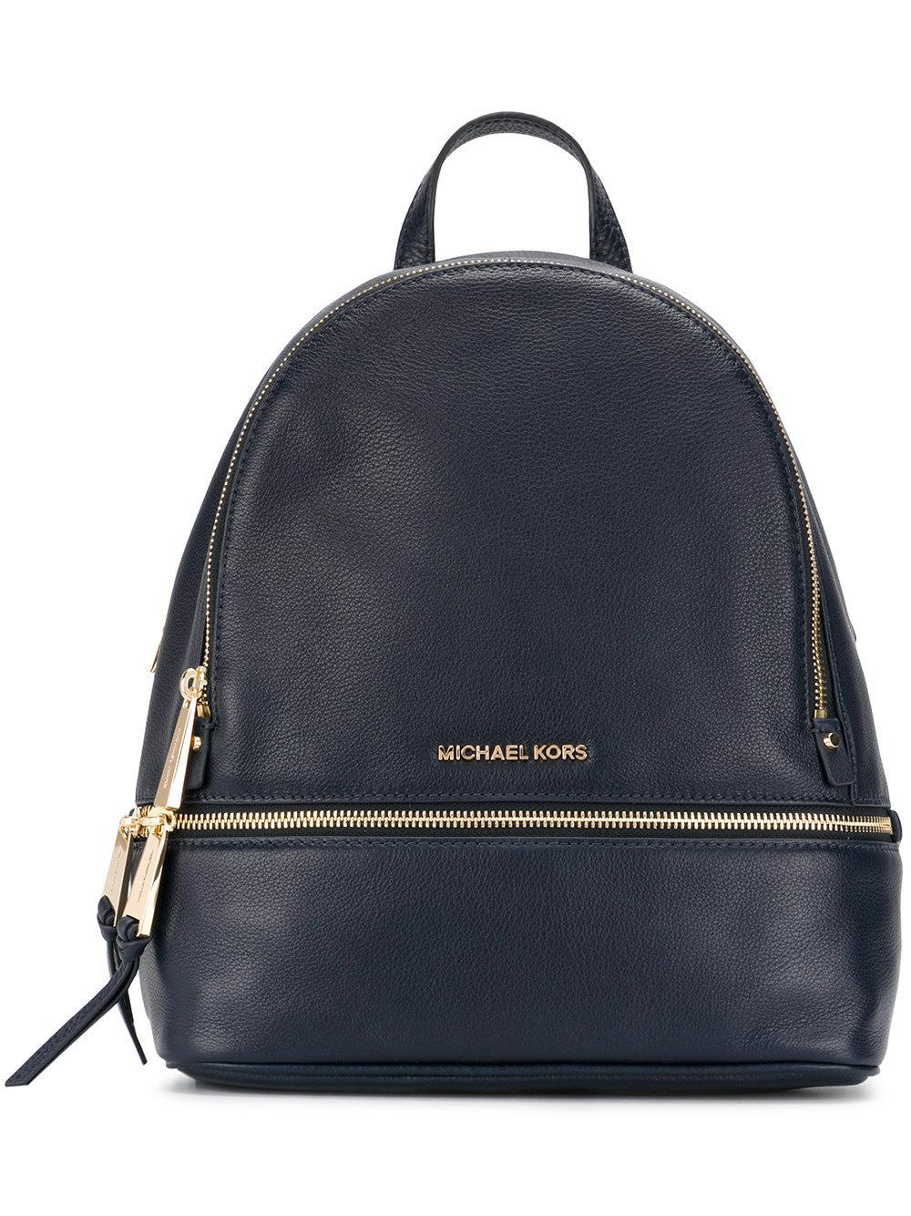 e65669f653 sweden michael michael kors. womens blue rhea zip leather backpack 6334d  56440