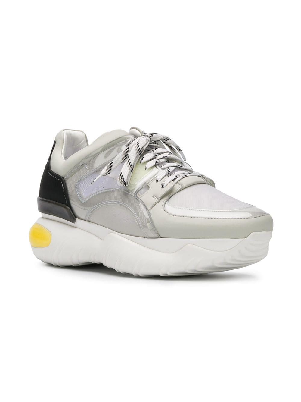 0c4dfff9a2 Lyst - Fendi Leather & Pvc Sneakers in White for Men - Save 50.0%