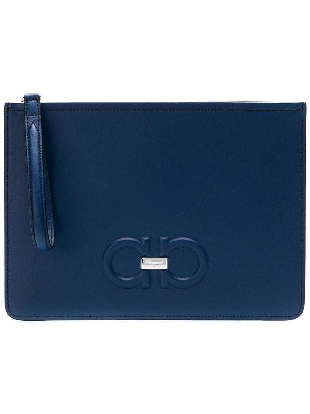 e2eb17deb080 Lyst - Ferragamo Firenze Clutch in Blue
