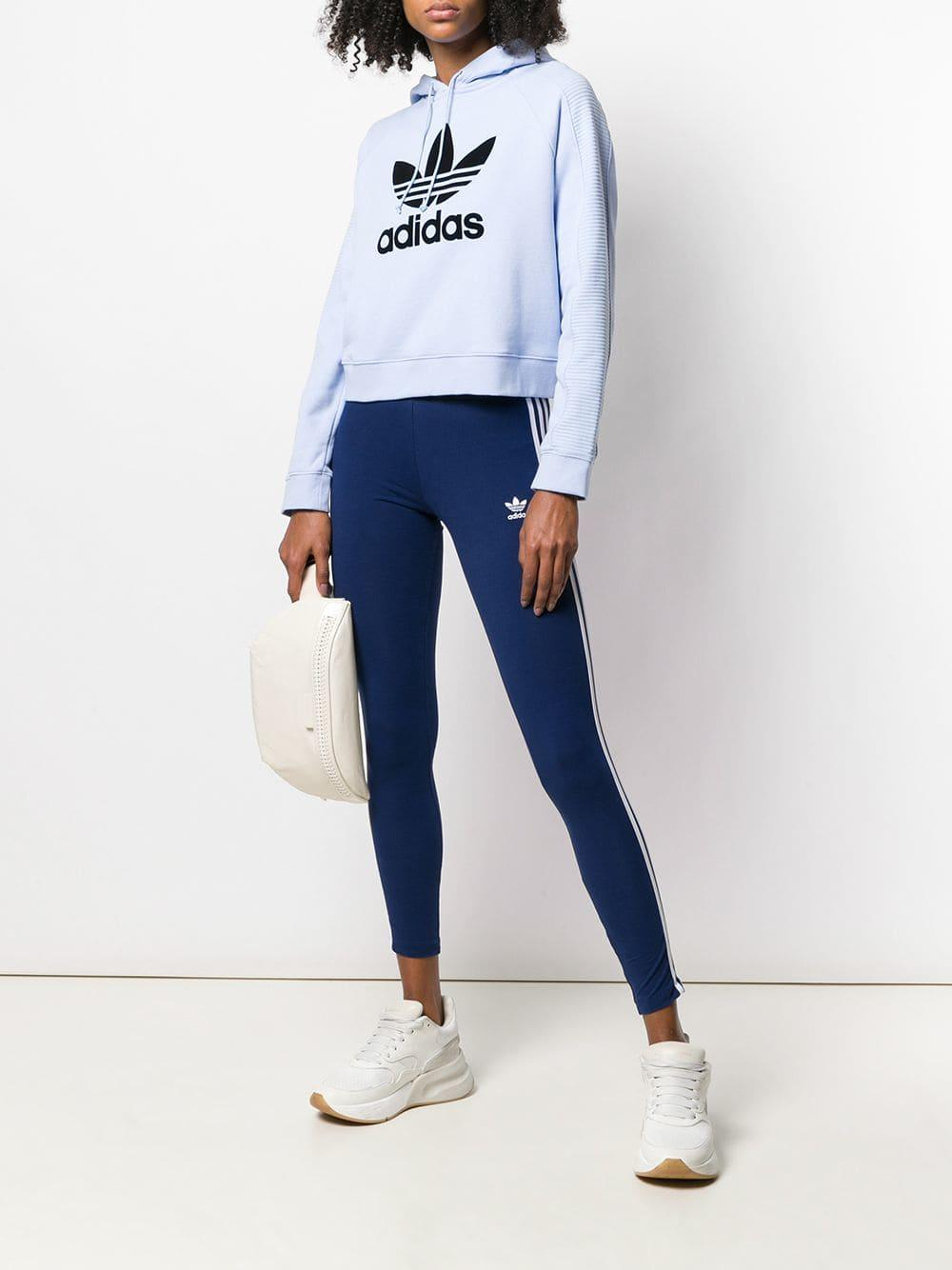 5efdbdf235030 Lyst - adidas 3-stripes Leggings in Blue