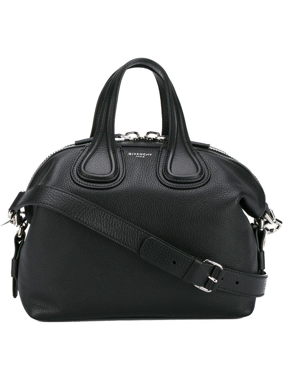 a582e7df7462 Lyst - Givenchy Nightingale Small Leather Shoulder Bag in Black