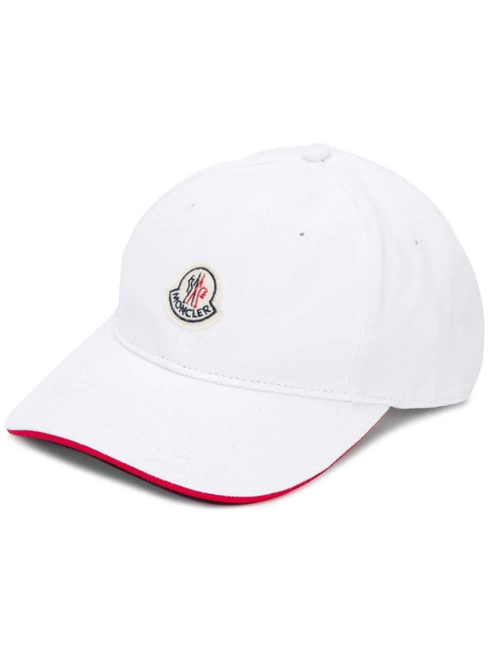 f2ce5a490623 Lyst - Moncler Logo Baseball Hat in White for Men