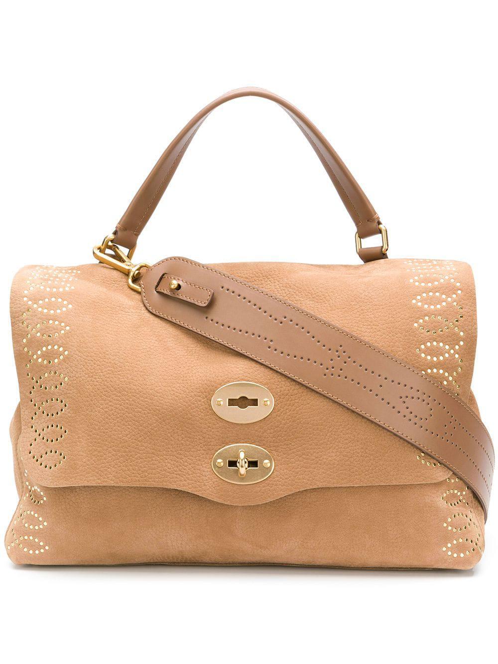 27d7bc88ec42 Lyst - Zanellato Postine M Leather Tote Bag in Brown
