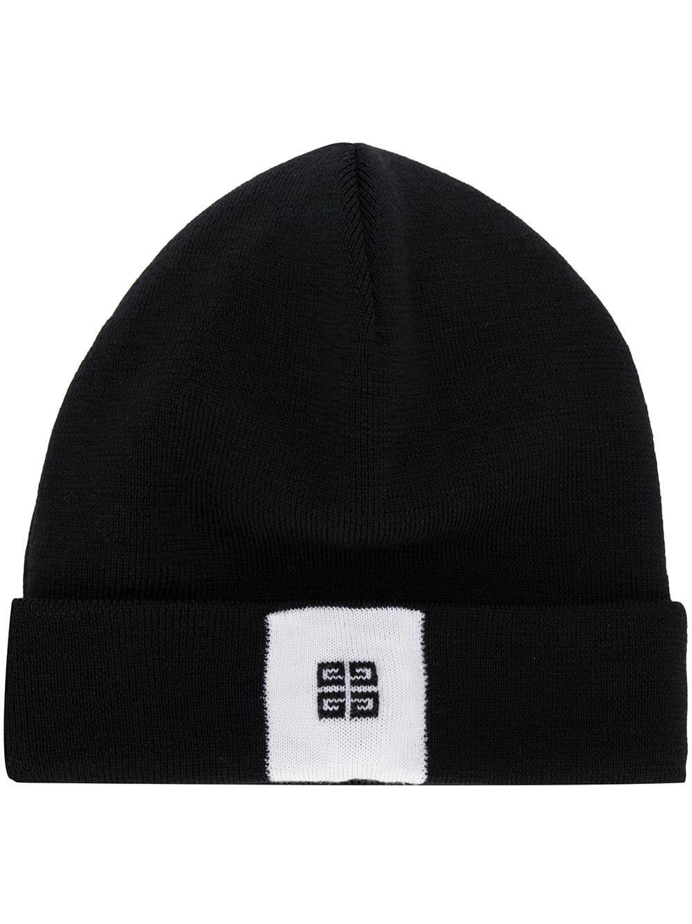 e930b06005d Lyst - Givenchy Front Logo Beanie in Black