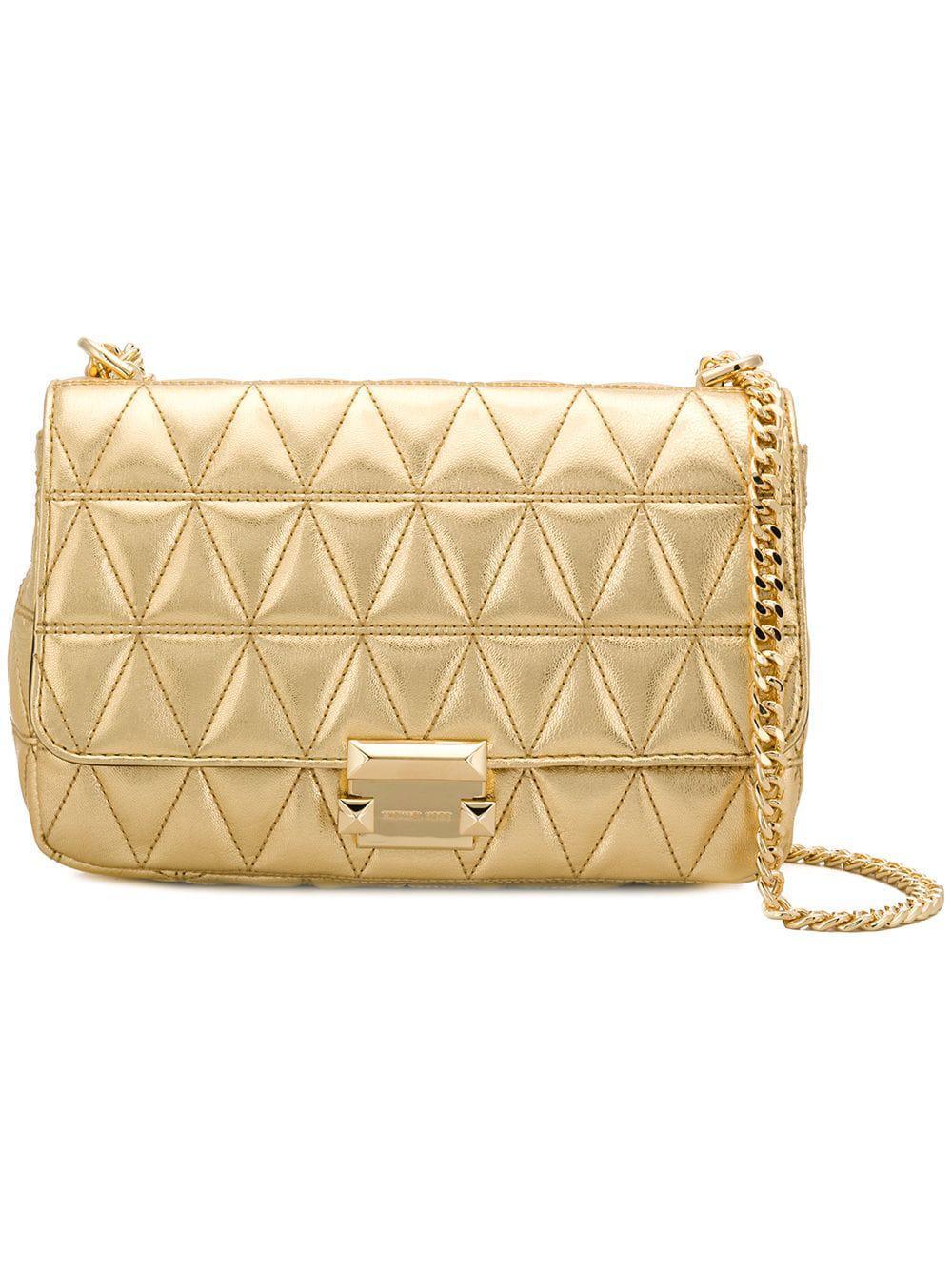 c842697b5bf5 MICHAEL Michael Kors Sloan Leather Shoulder Bag in Metallic - Lyst