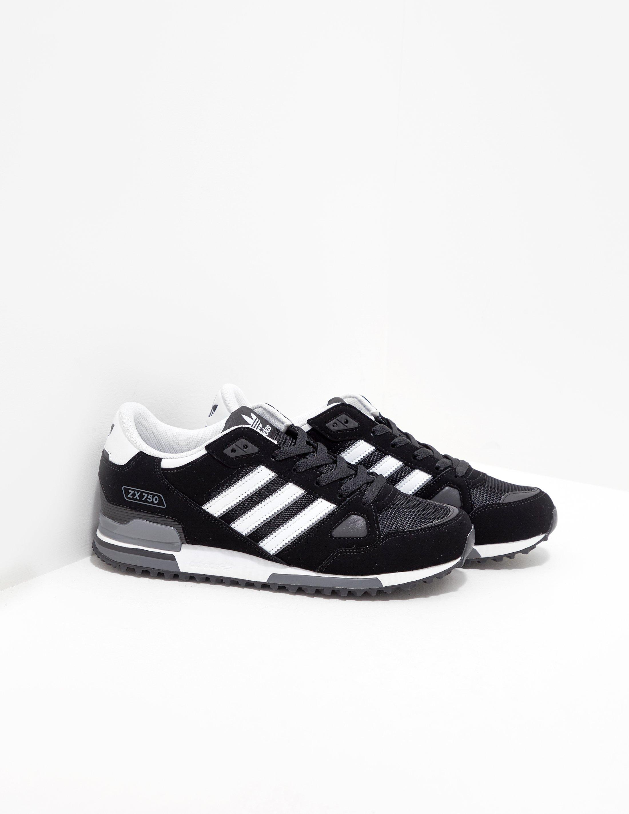 46a2ca37781b Lyst - adidas Originals Zx 750 - Exclusively To Tessuti Black in ...