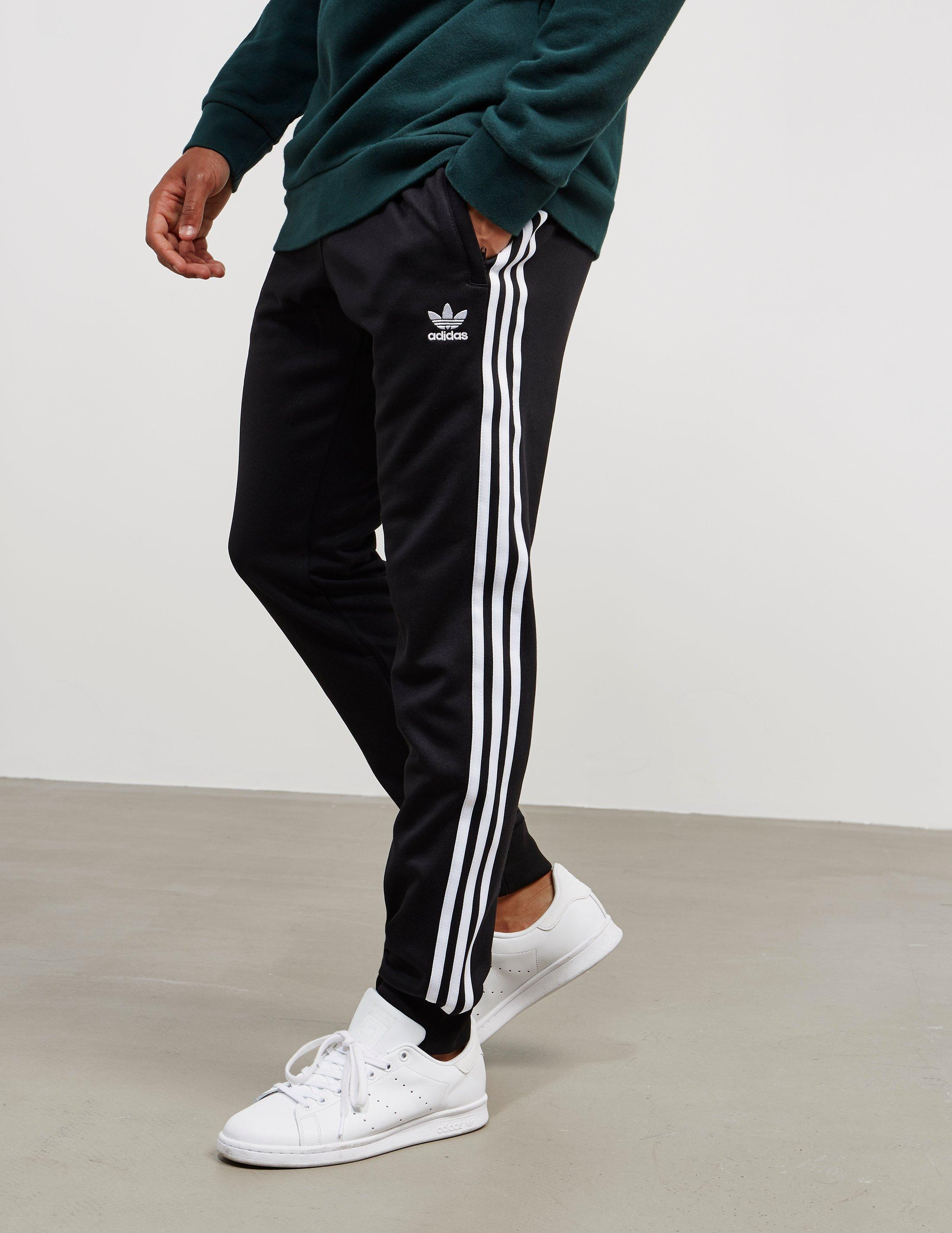 a6e823aff7196 adidas Originals Superstar Cuffed Track Pants Black in Black for Men - Save  36% - Lyst
