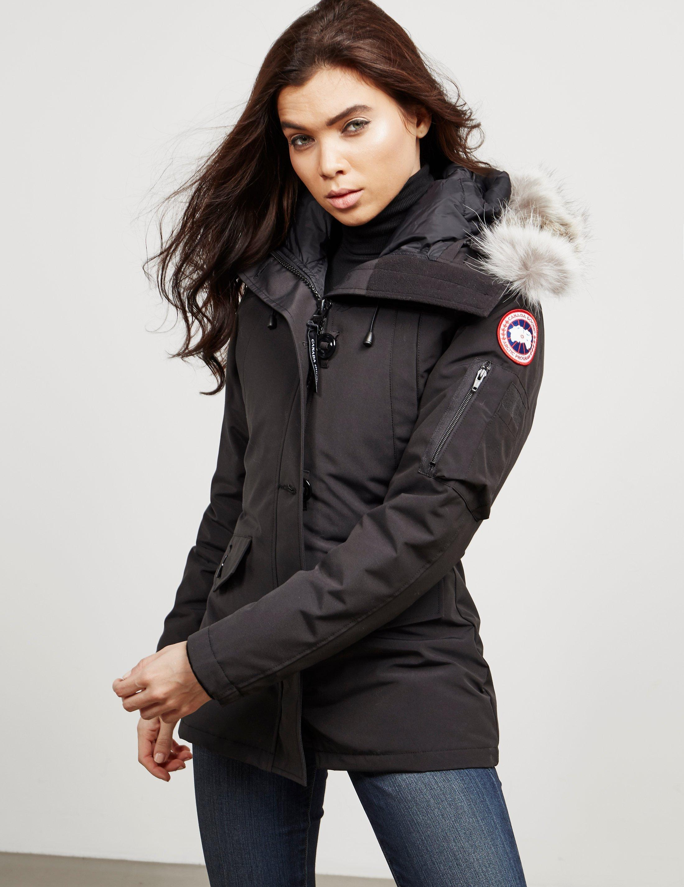 271ee60070e1 Canada Goose Montebello Padded Parka Jacket Black in Black - Lyst