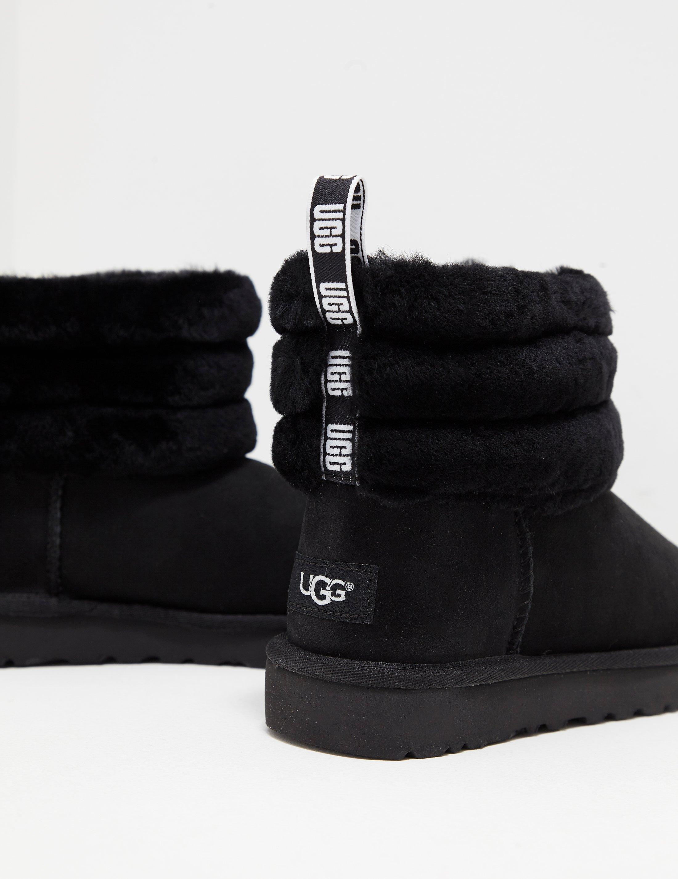 b225f87b4dbf Lyst - UGG Womens Fluff Mini Quilted Logo Boots Women s Black in Black