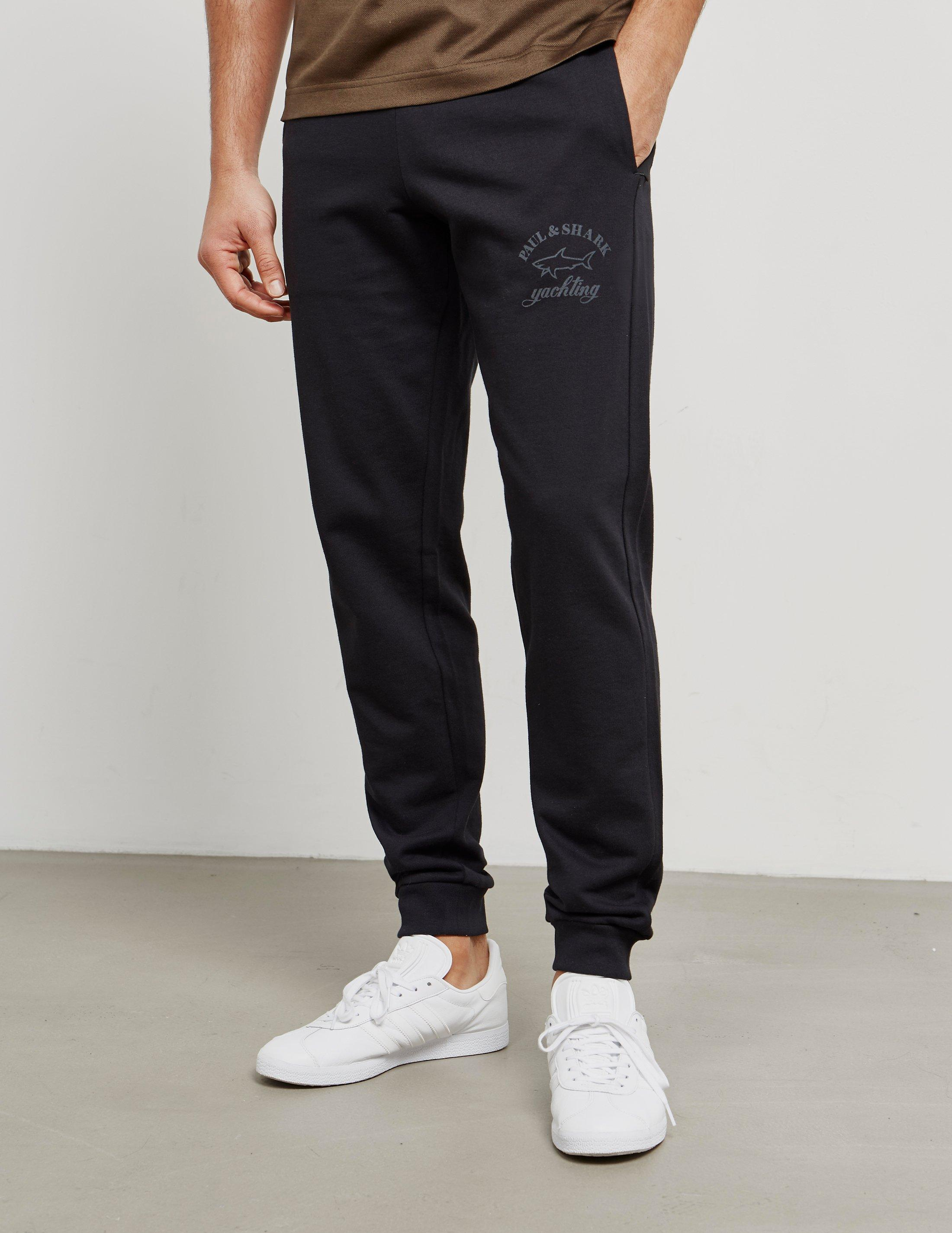 official photos c8ae0 5760c Paul   Shark Cuffed Fleece Pant - Exclusive Black Mens