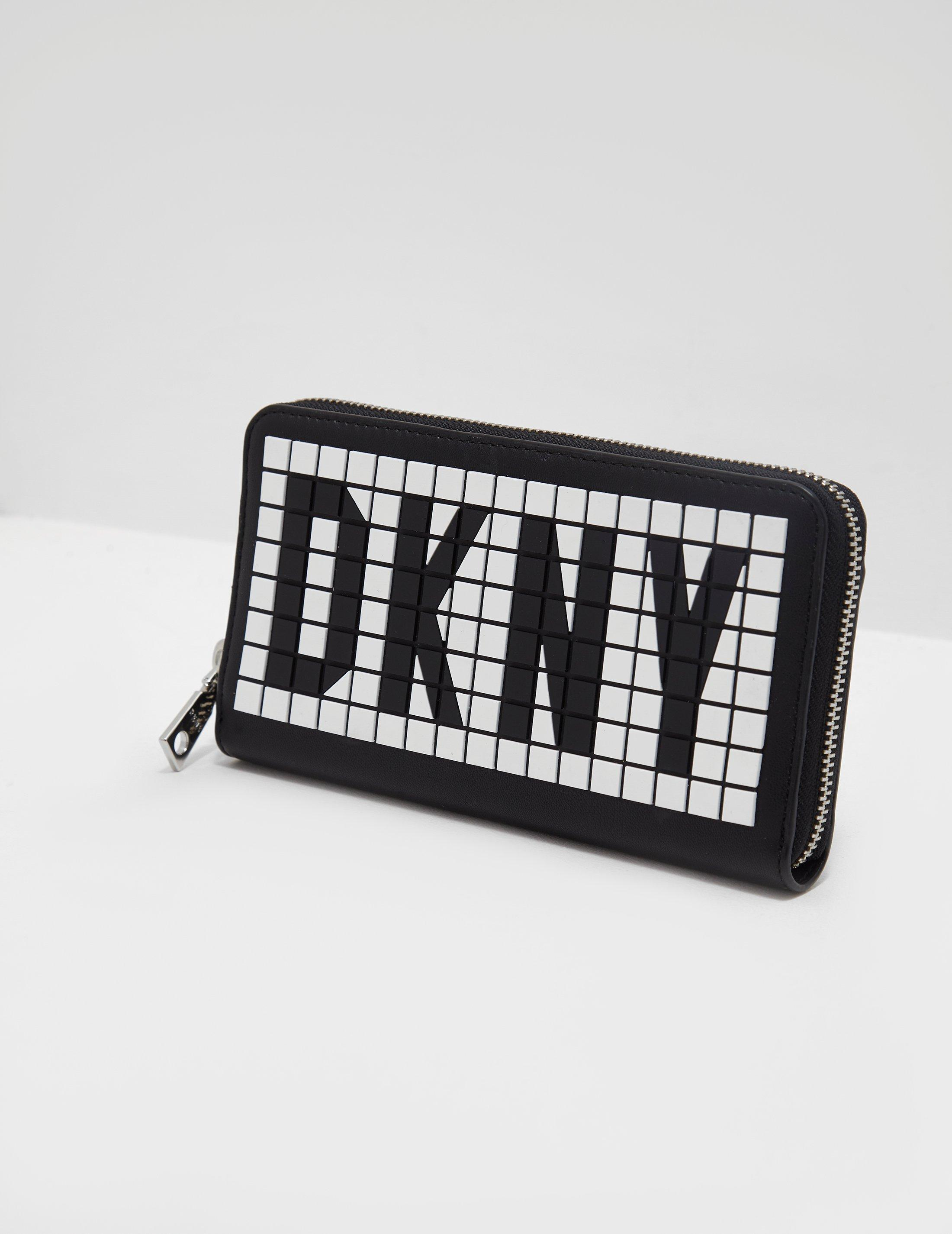 f670445b27add8 DKNY Tilly Letter Purse Black in Black - Save 21% - Lyst