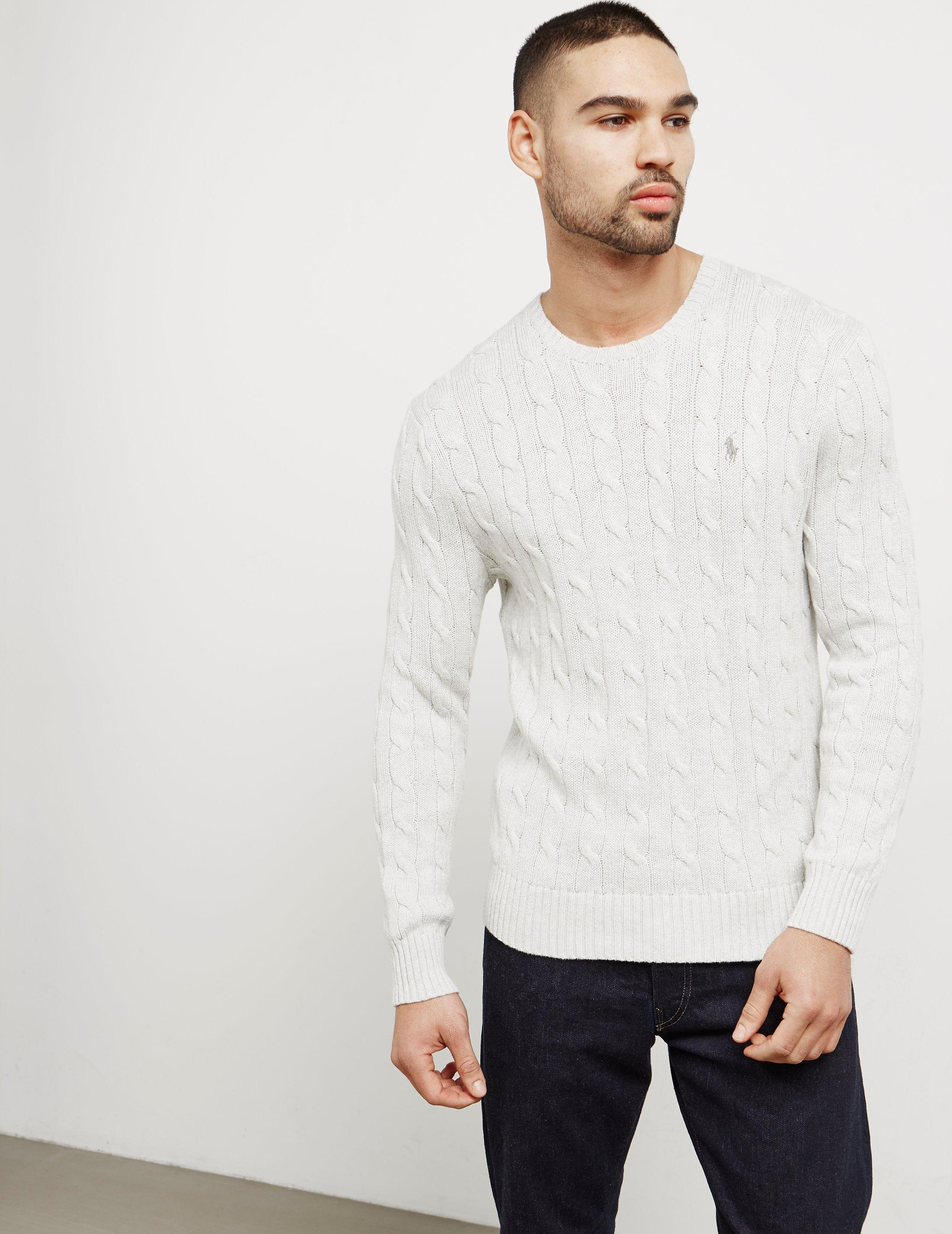 Polo Ralph Lauren. Gray Mens Cable Knit ...