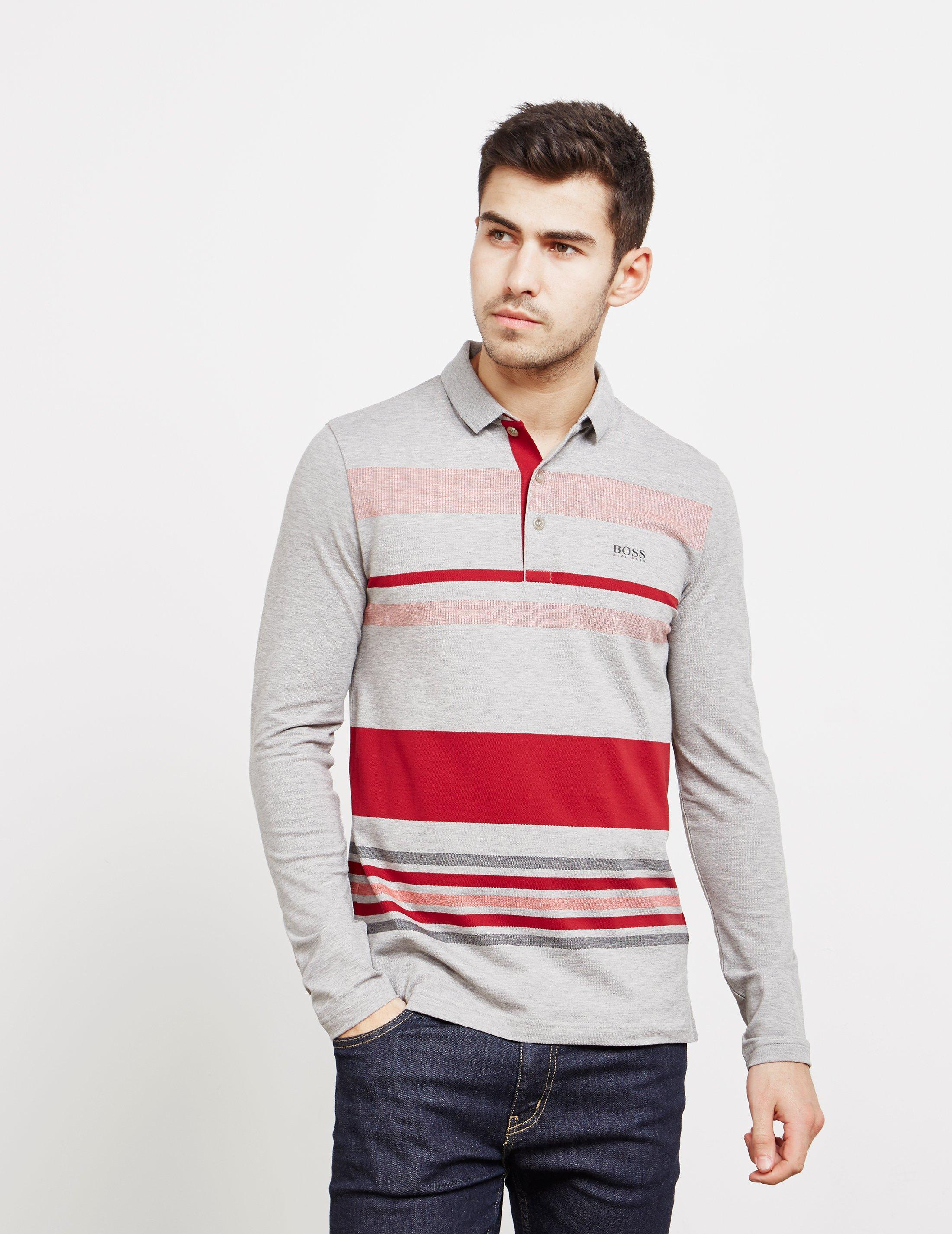 091c07da BOSS - Pleesy Long Sleeve Polo Shirt Red for Men - Lyst. View fullscreen