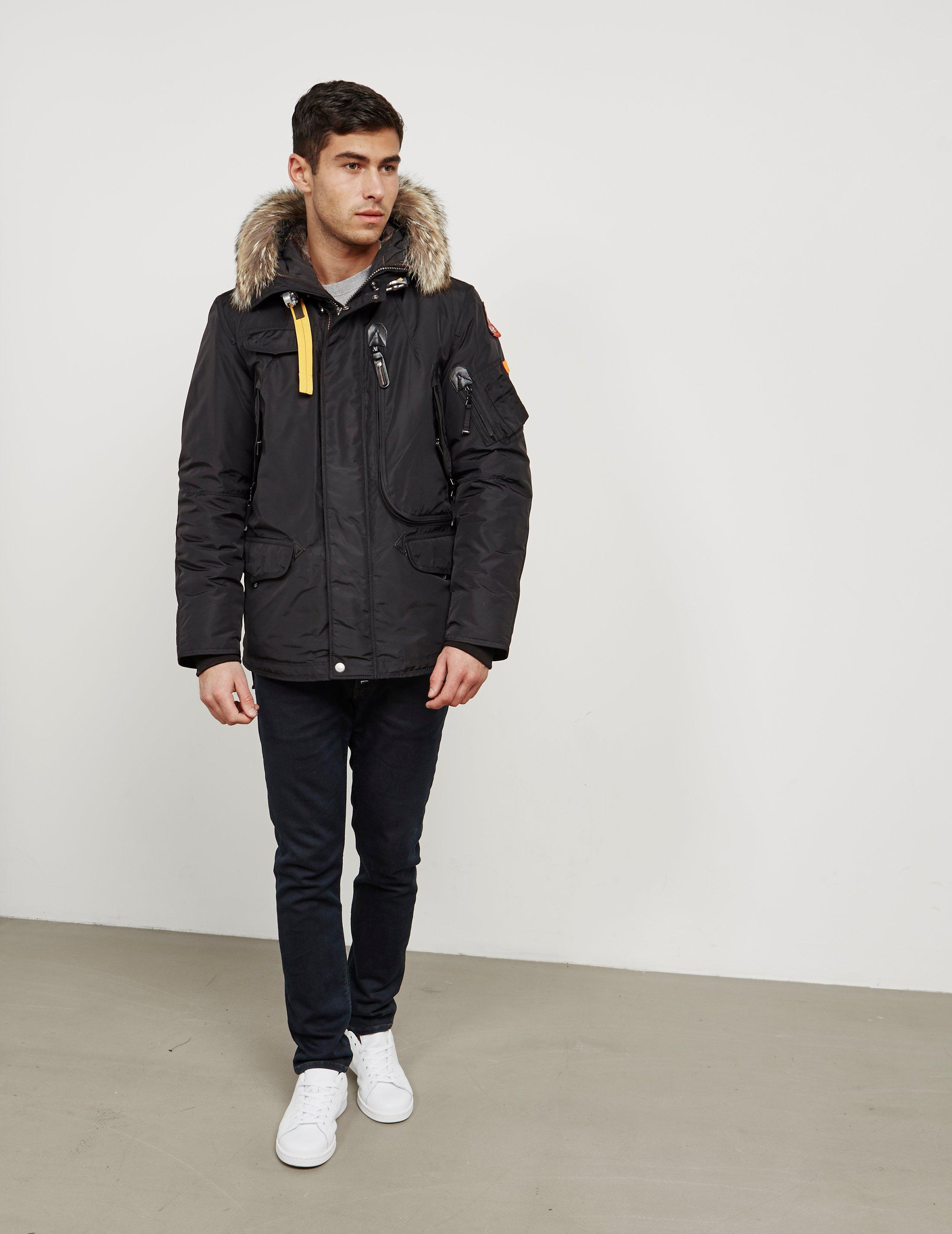 parajumpers jacket right hand in black