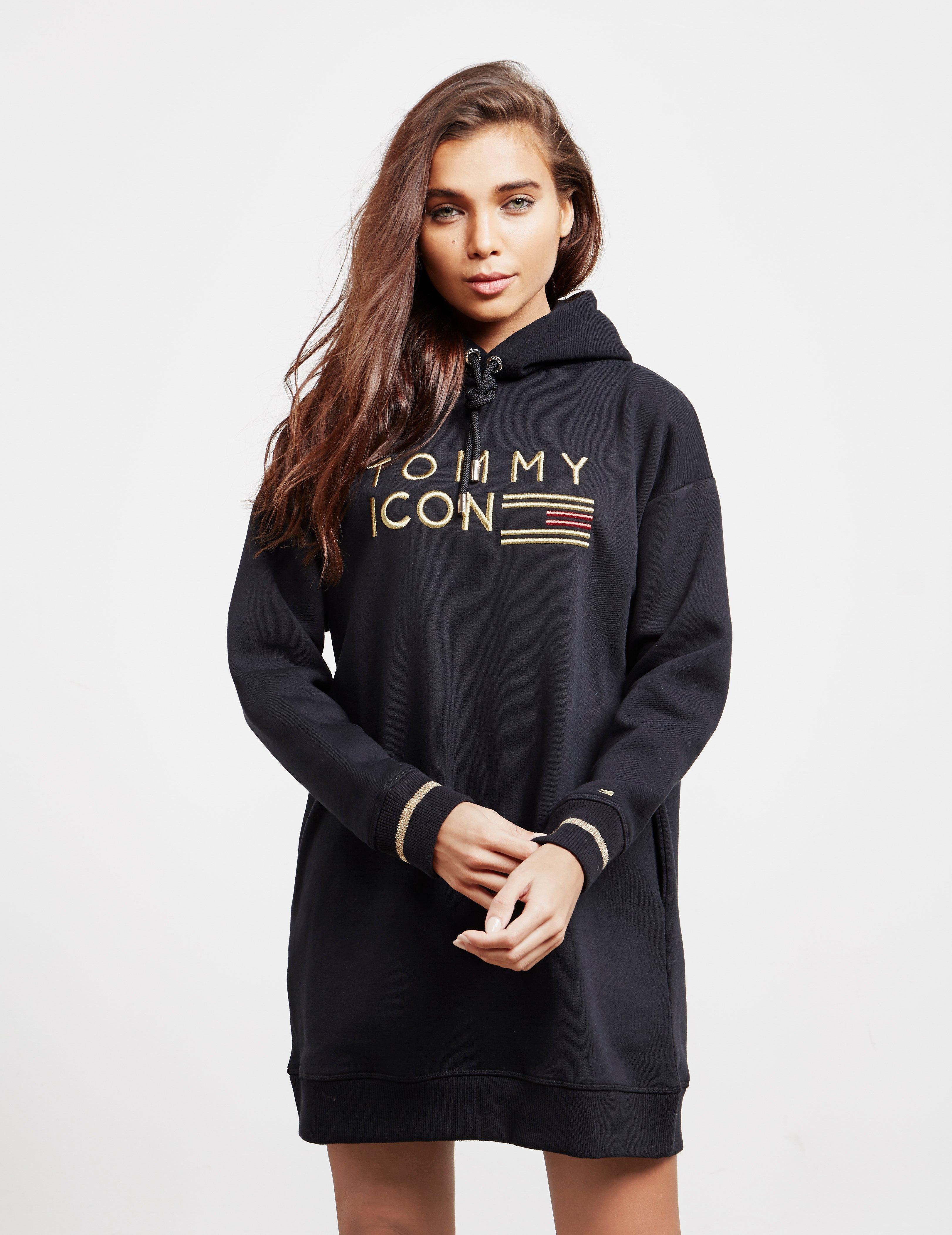 6ef03de7 Tommy Hilfiger Womens Noelle Hooded Dress Black in Black - Lyst
