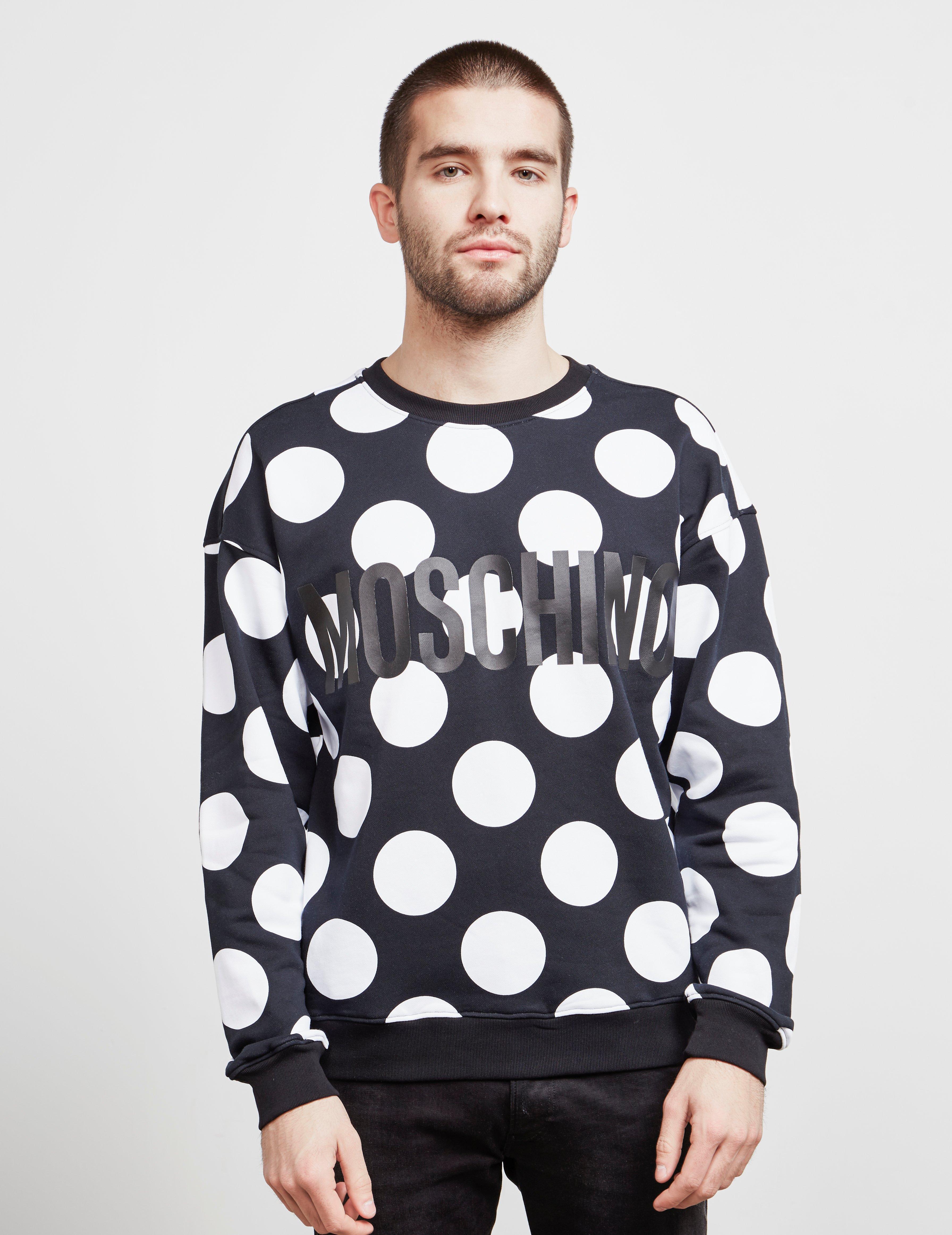 0b561875c Lyst - Moschino Polka Dot Sweatshirt Black in Black for Men - Save 21%