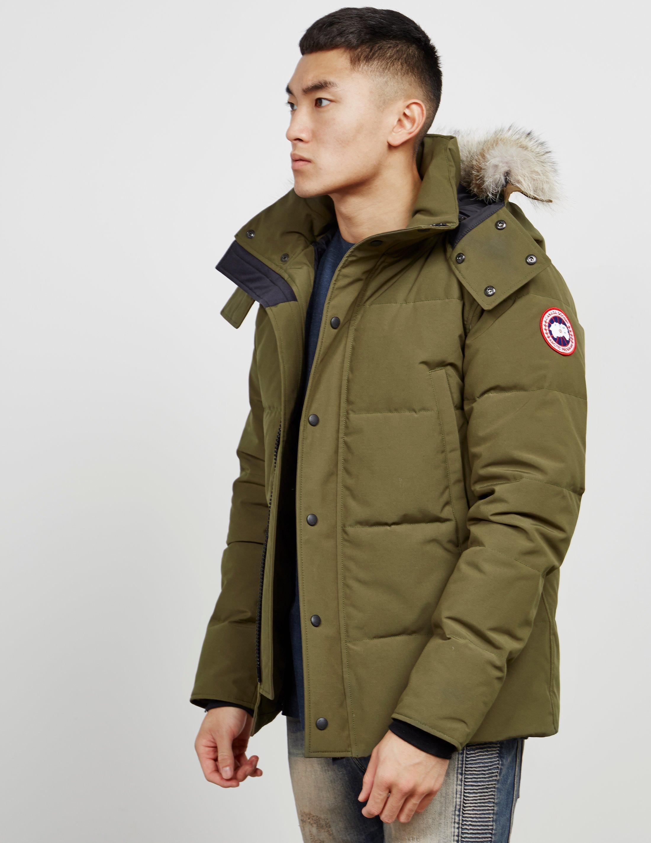 ea8bc2216f5 Lyst - Canada Goose Wyndham Padded Parka Jacket Green in Green for Men