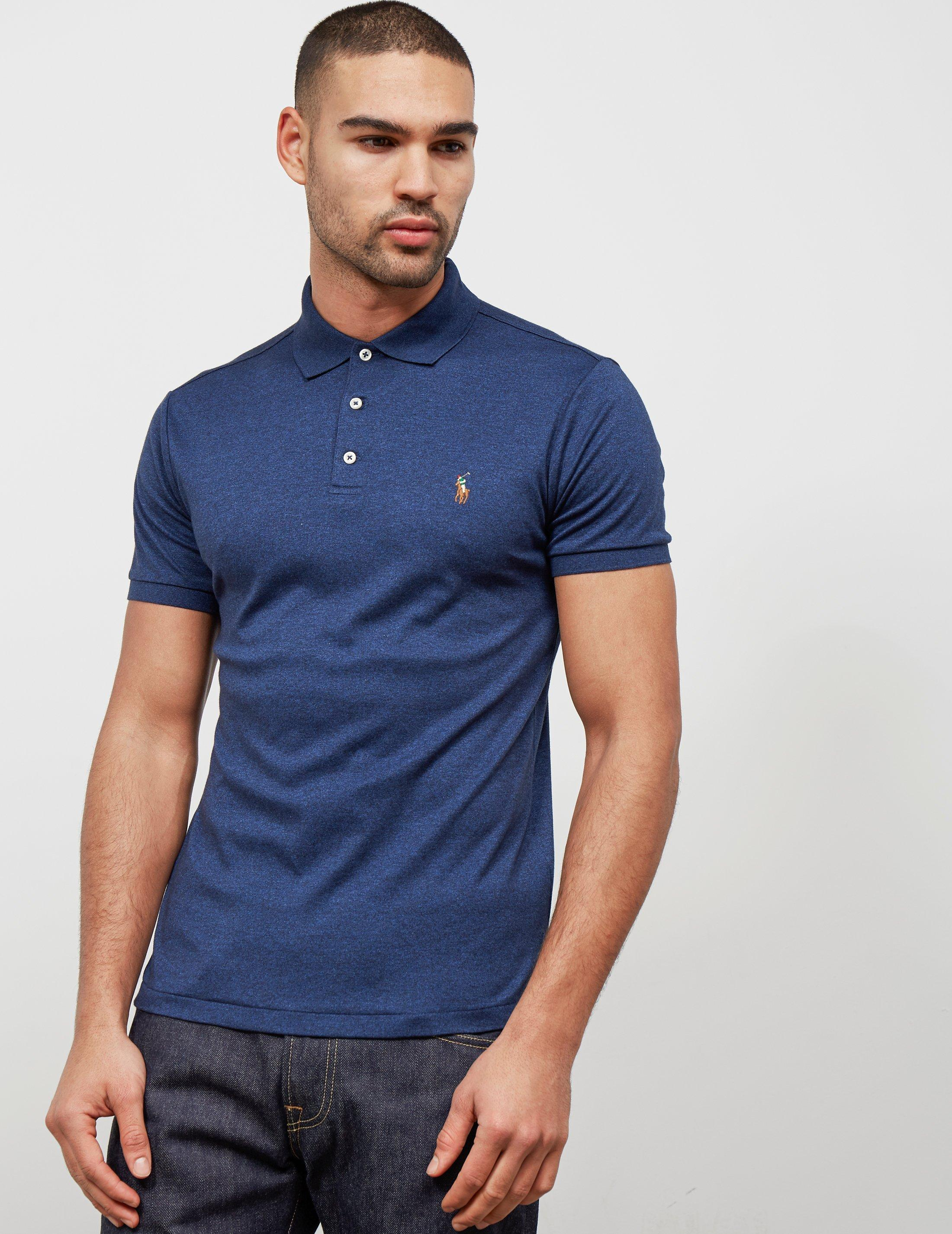 8400e4c8 Lyst - Polo Ralph Lauren Short Sleeve Polo Navy Blue in Blue for Men