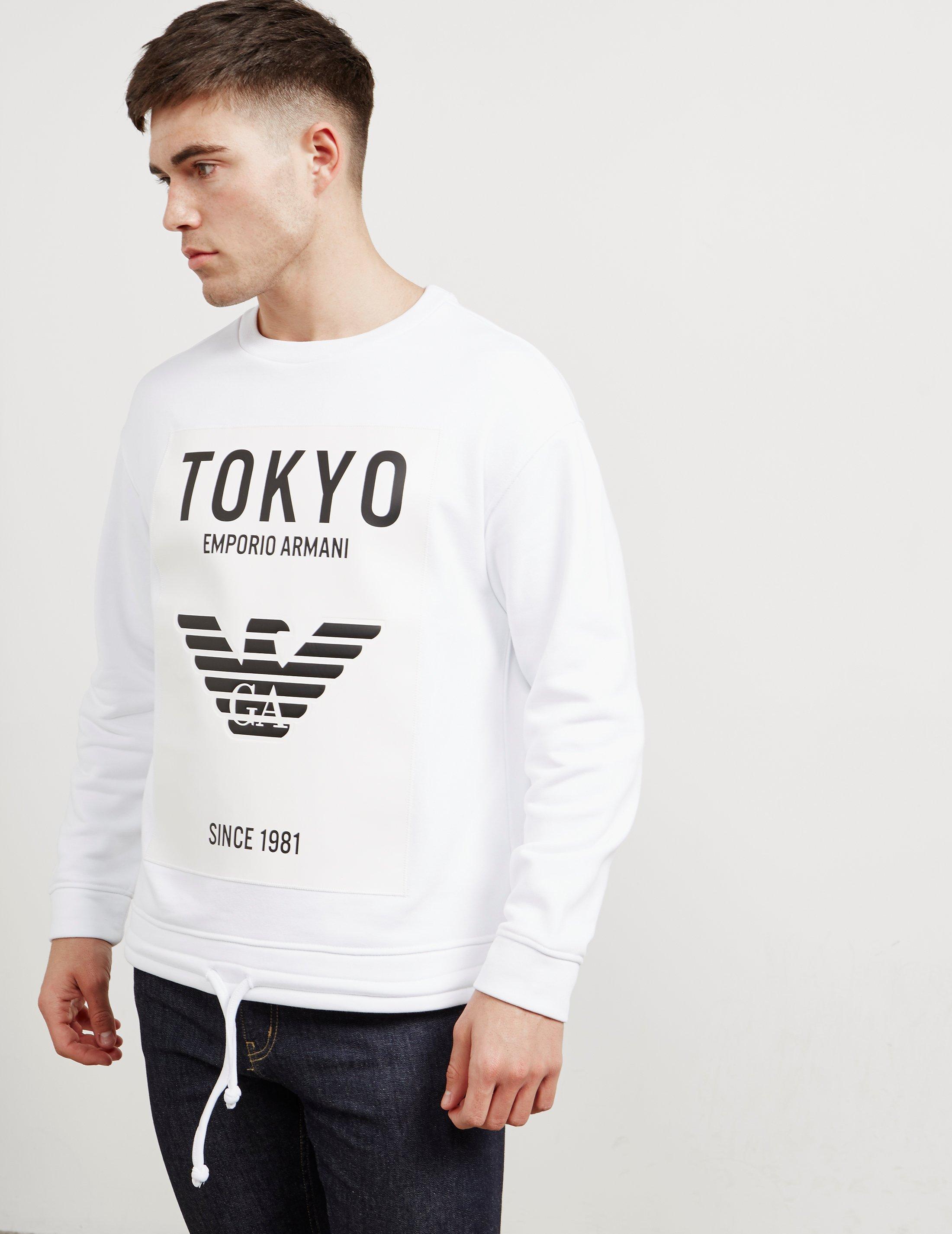 Online Tokyo Mens White In Sweatshirt Exclusive Emporio Armani 7gaqaI