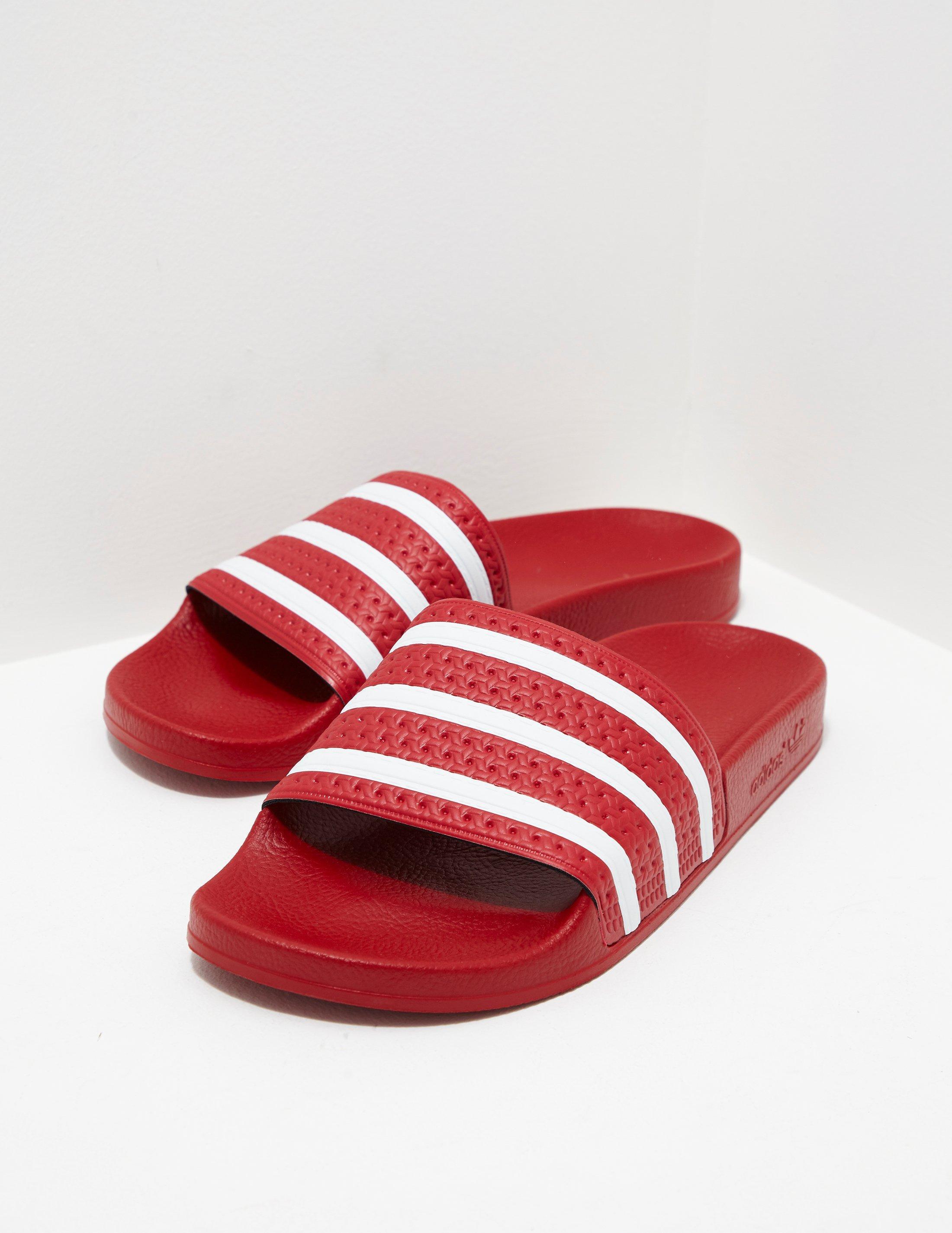 3f7bca0819d00 Lyst - adidas Originals Mens Adilette Slides Red in Red for Men
