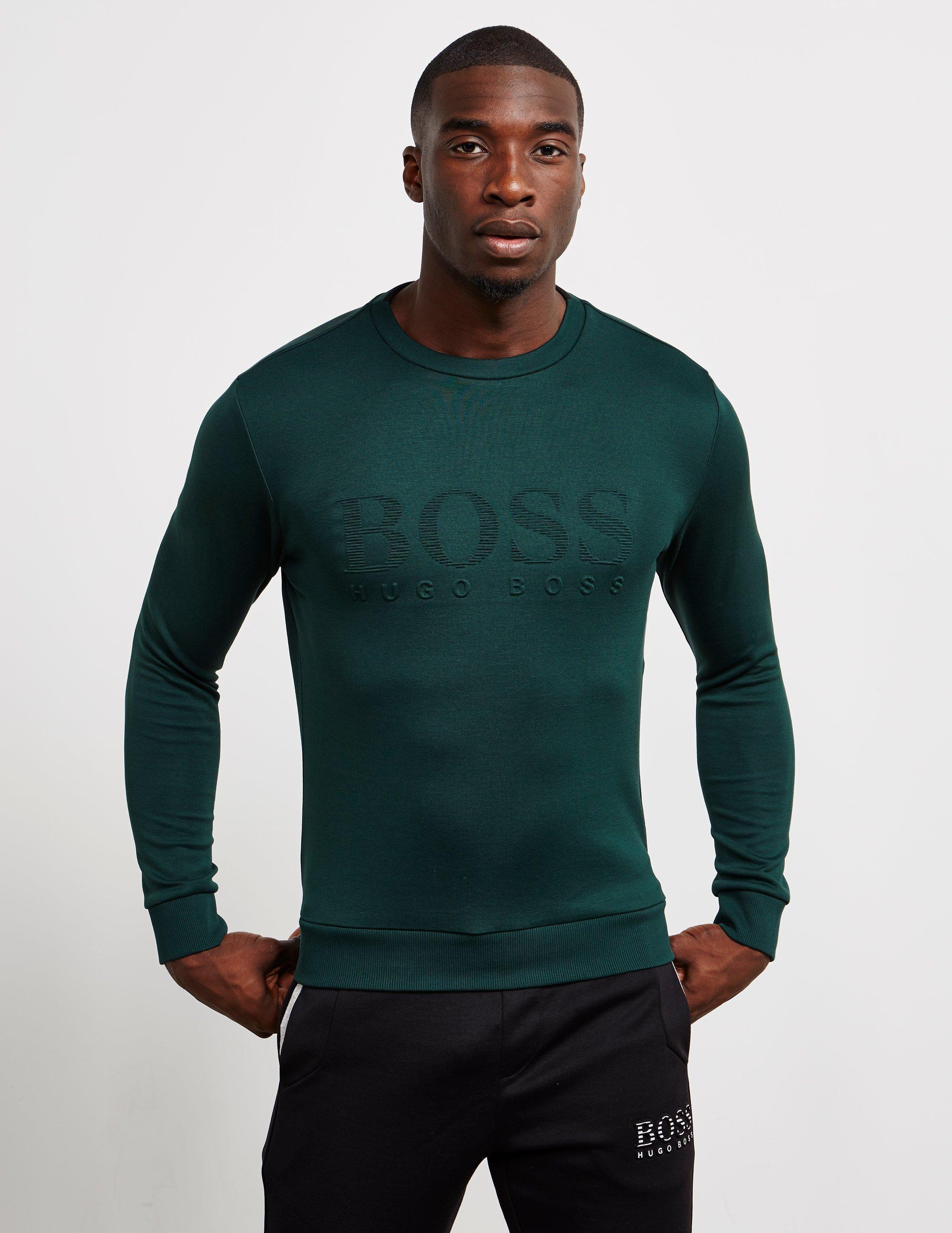 880bd5f97 BOSS - Salbo Sweatshirt Green for Men - Lyst. View fullscreen