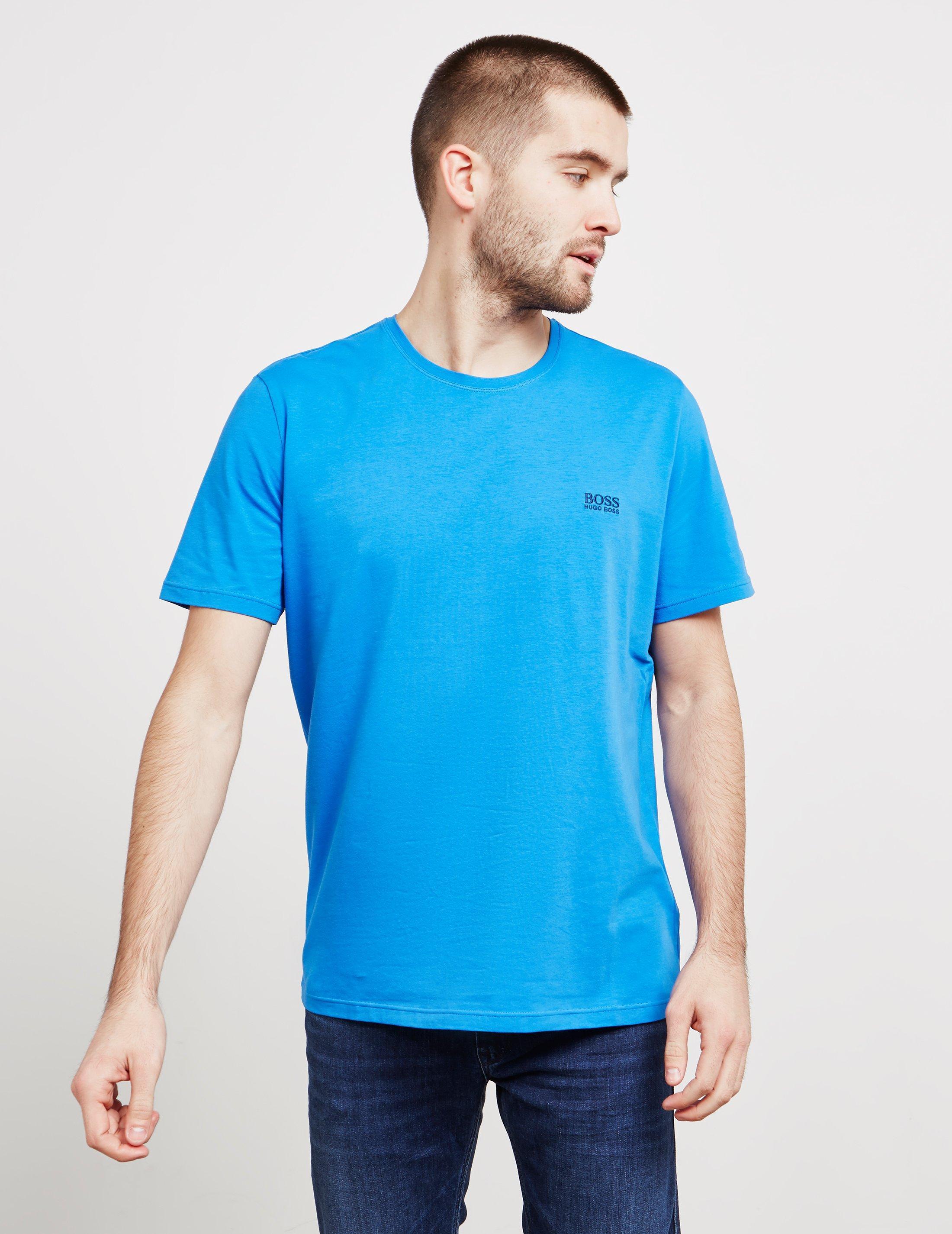 d2fae548a BOSS - Mens Core Short Sleeve T-shirt Blue for Men - Lyst. View fullscreen