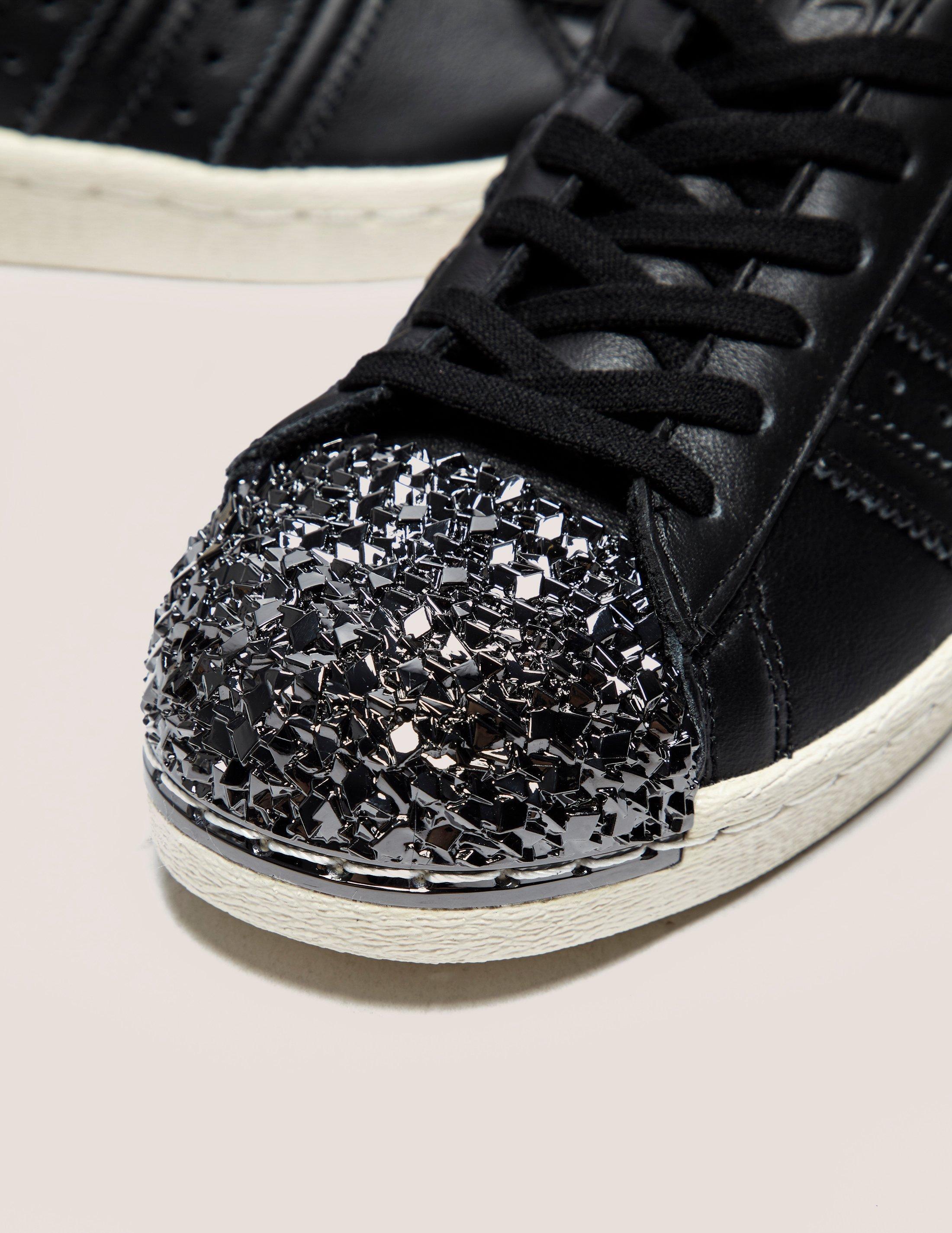 pretty nice 2d010 b6b4a Lyst - adidas Originals Womens Superstar 80s Metal Toe Black in Black
