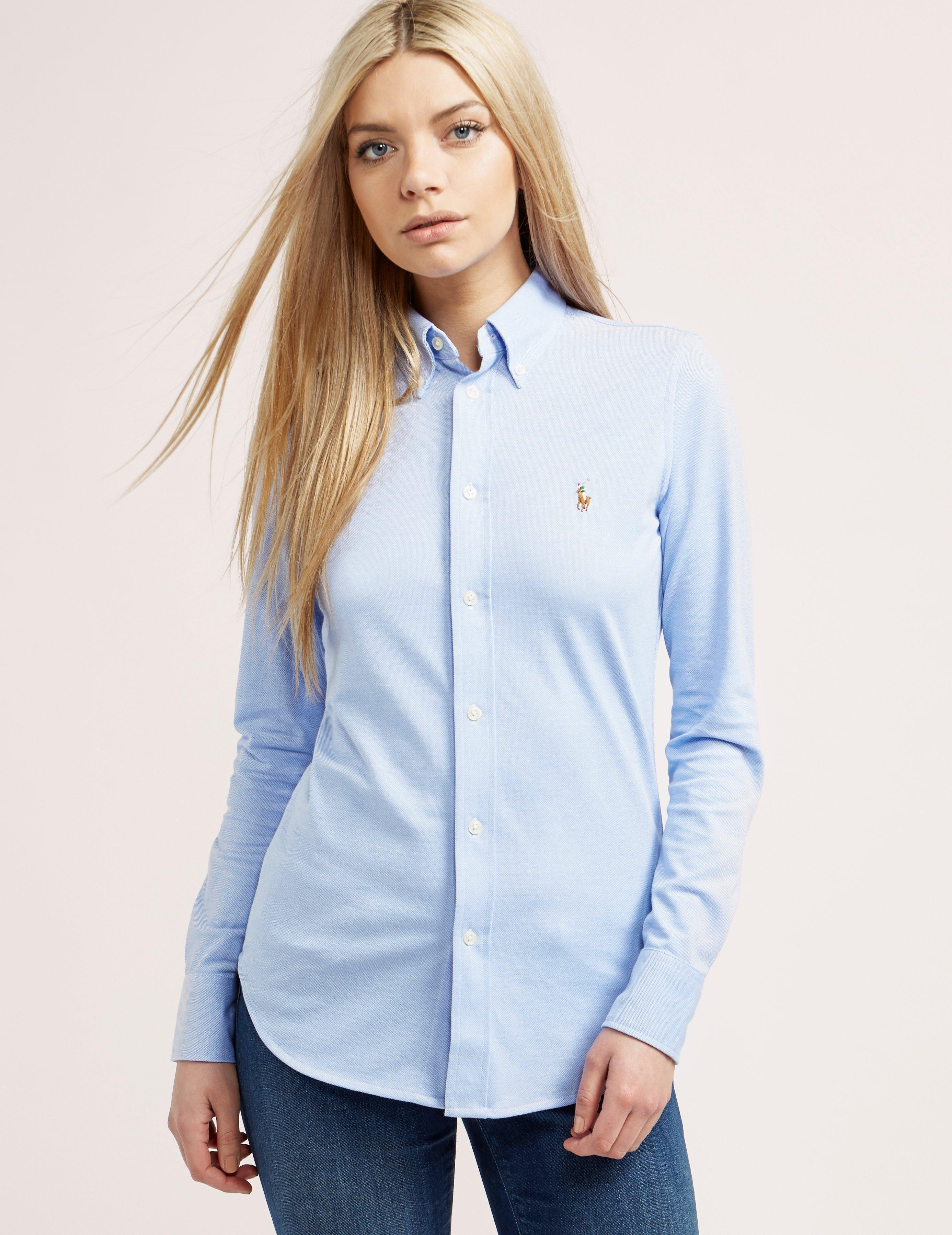 Lyst - Polo Ralph Lauren Womens Oxford Shirt Blue in Blue 21ef9a8a5c2e