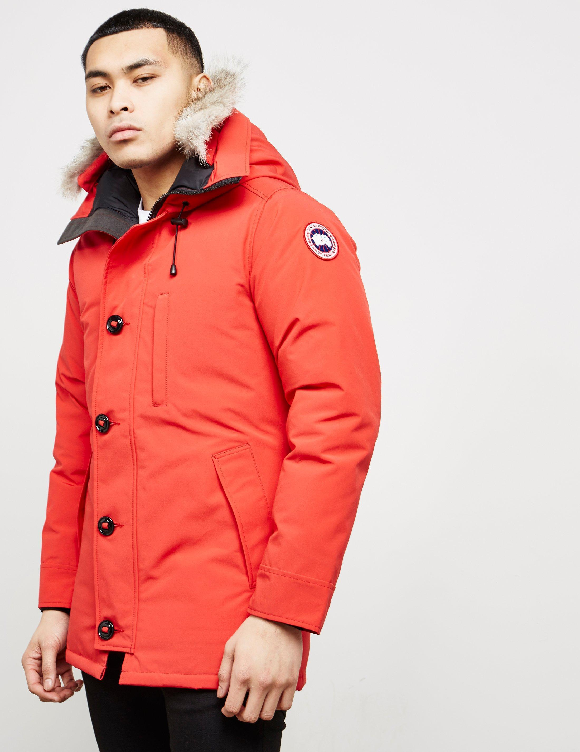 f90509085888 Canada Goose - Chateau Padded Parka Jacket Red for Men - Lyst. View  fullscreen