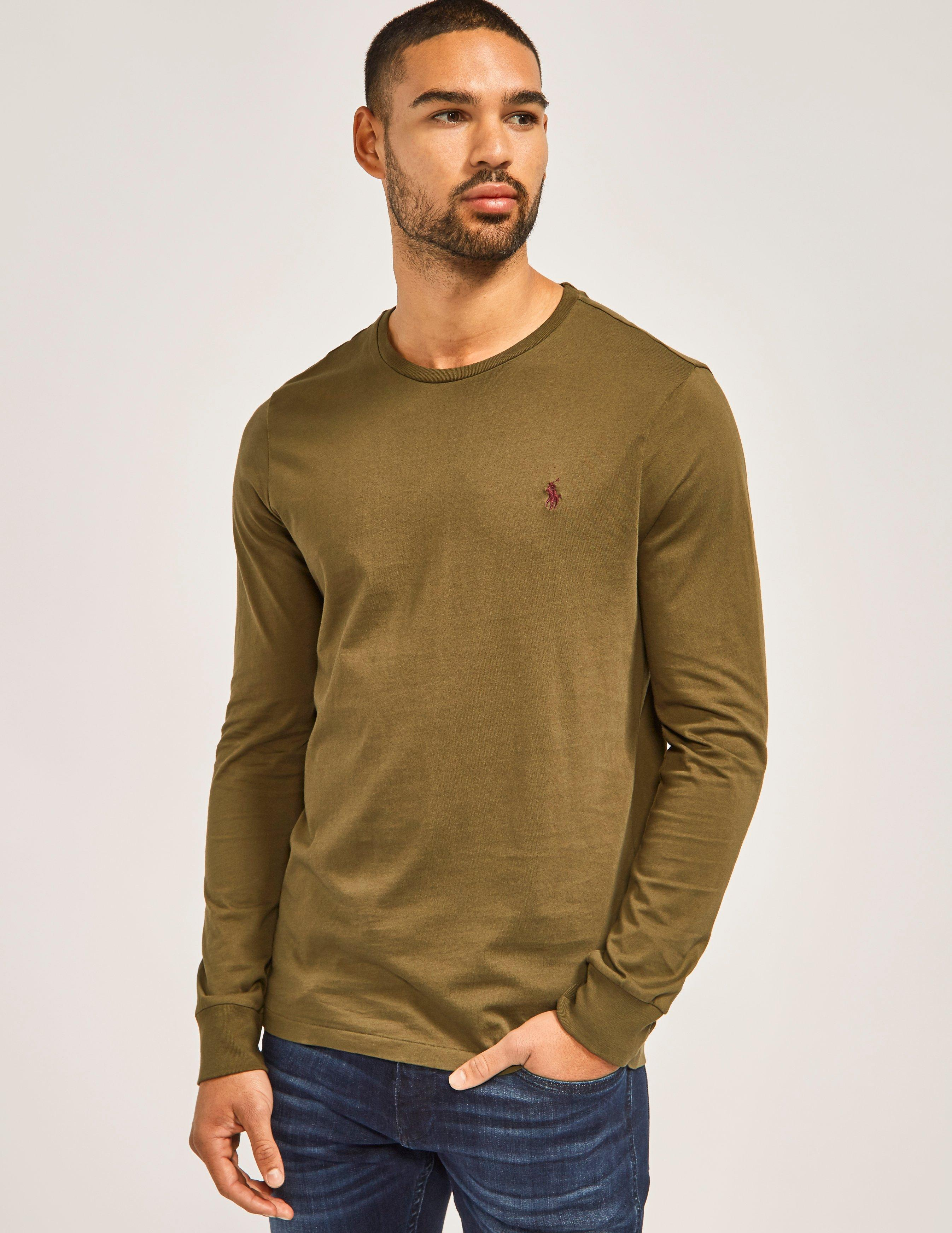 Lyst Polo Ralph Lauren Crew Neck Long Sleeve T Shirt In