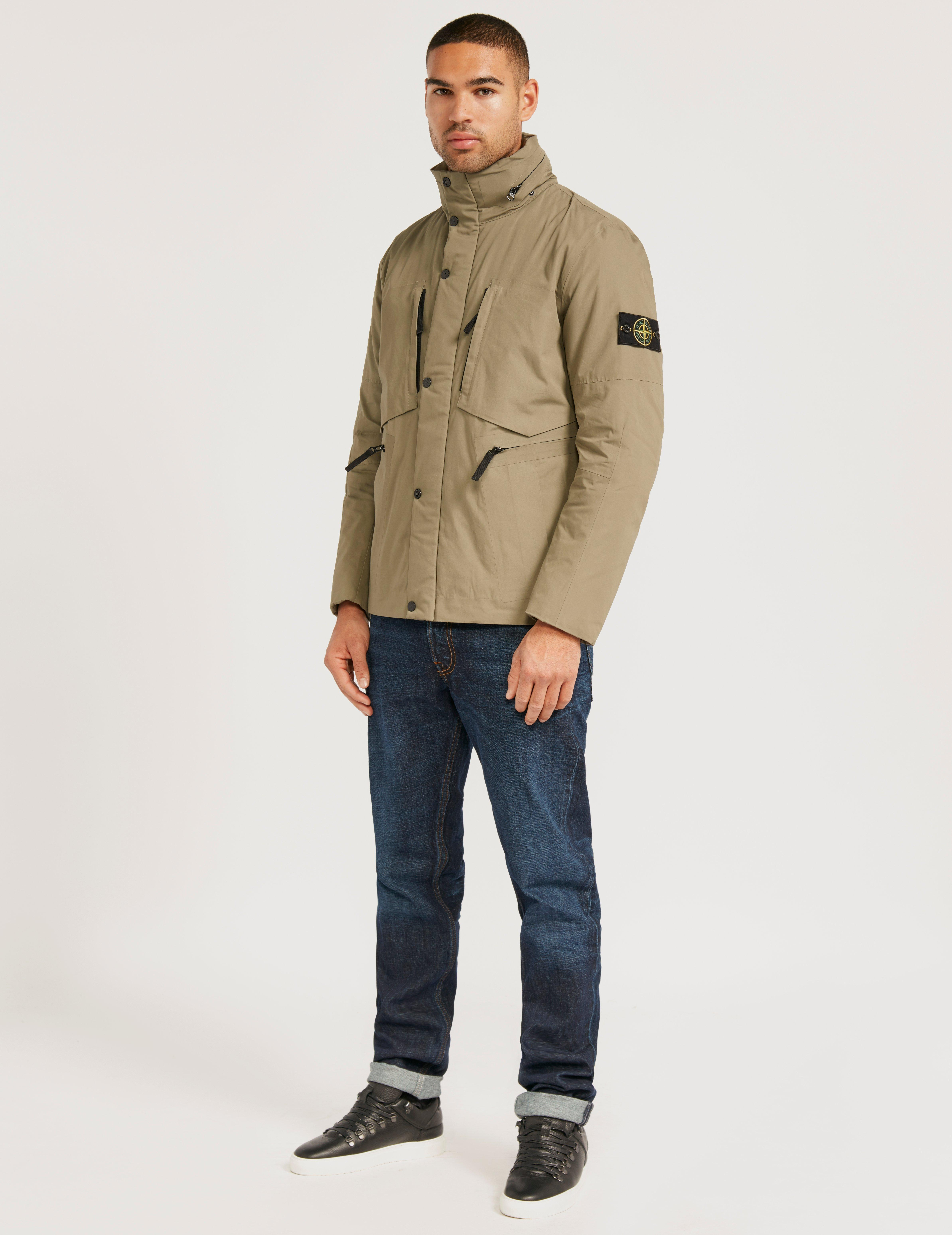 Stone Island Supima Jacket in Green for Men - Lyst