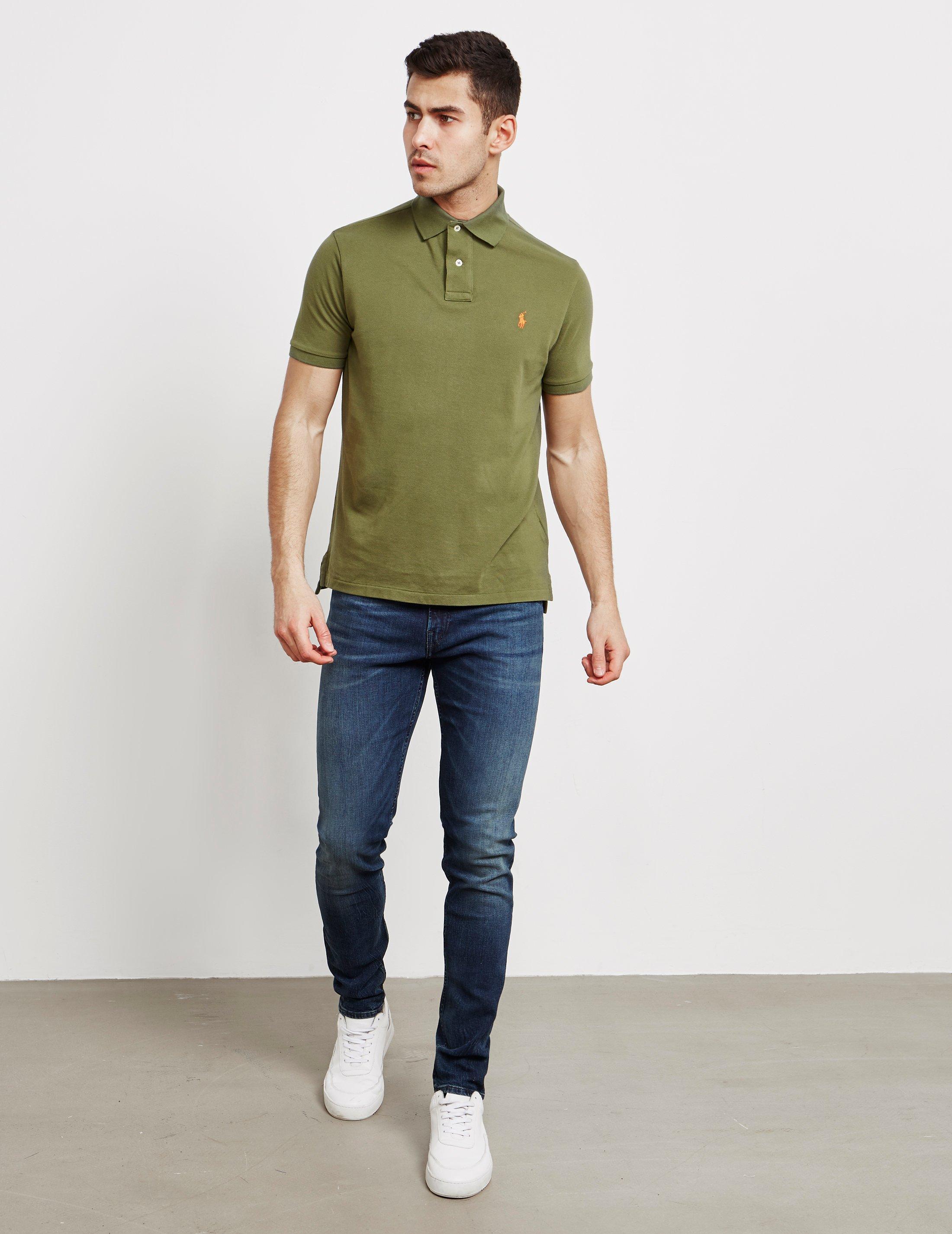 b280bb18 Polo Ralph Lauren Mens Mesh Short Sleeve Polo Shirt Green in Green for Men  - Lyst