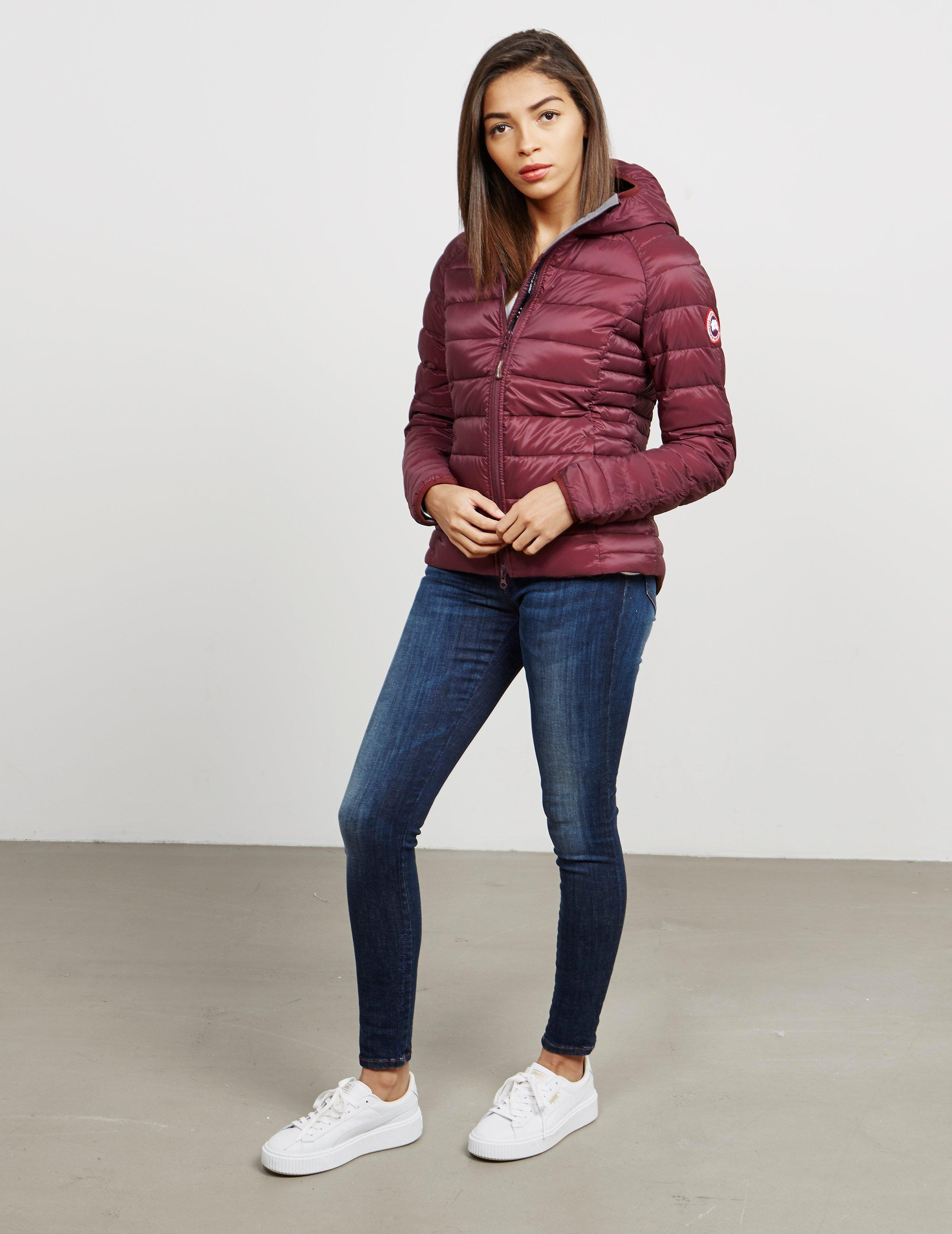 Canada Goose Womens Brookvale Padded Hooded Jacket Red in Red - Lyst b21b3f6ca