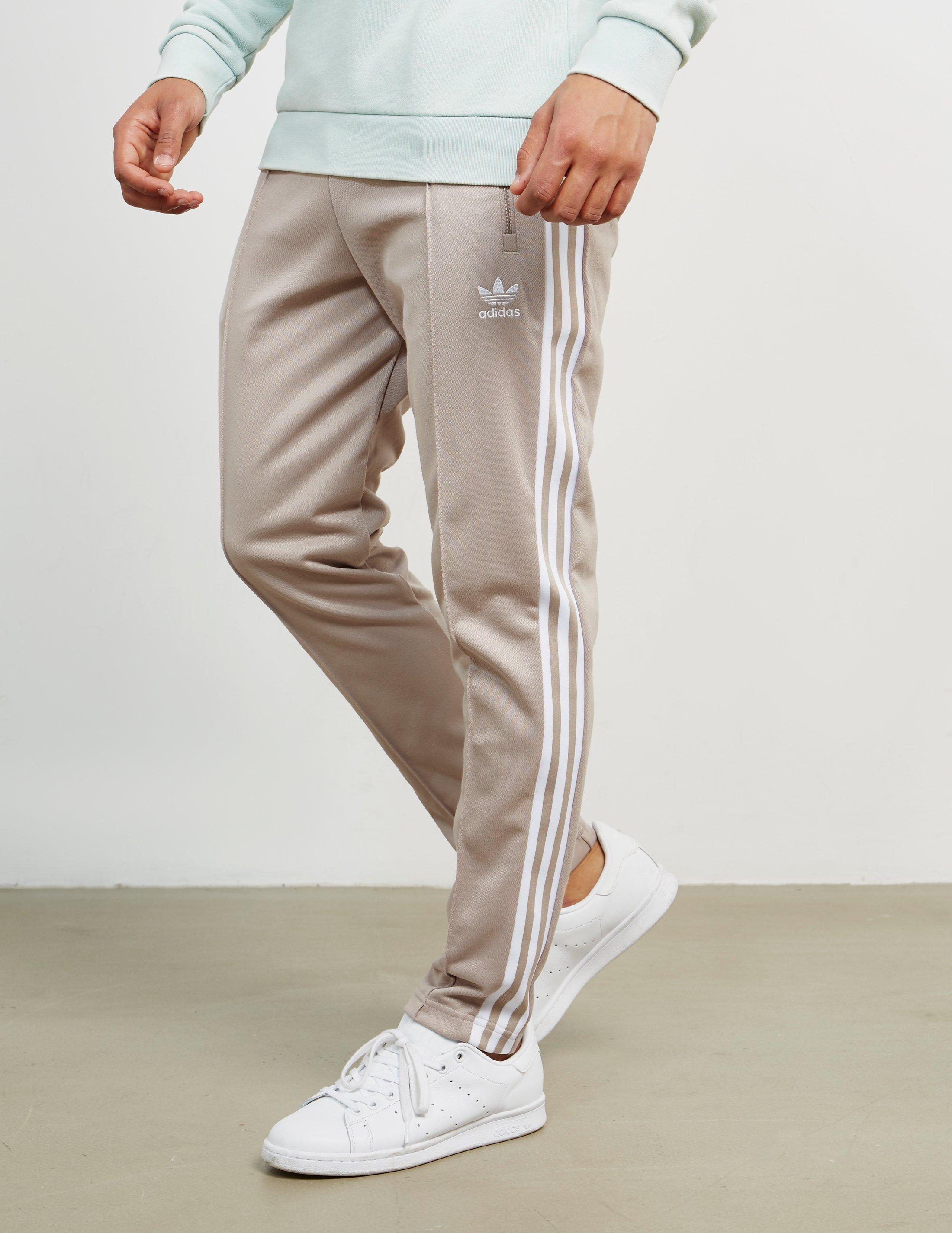 5b0420e1854 adidas Originals Mens Beckenbauer Cuffed Track Pants Grey in Gray ...