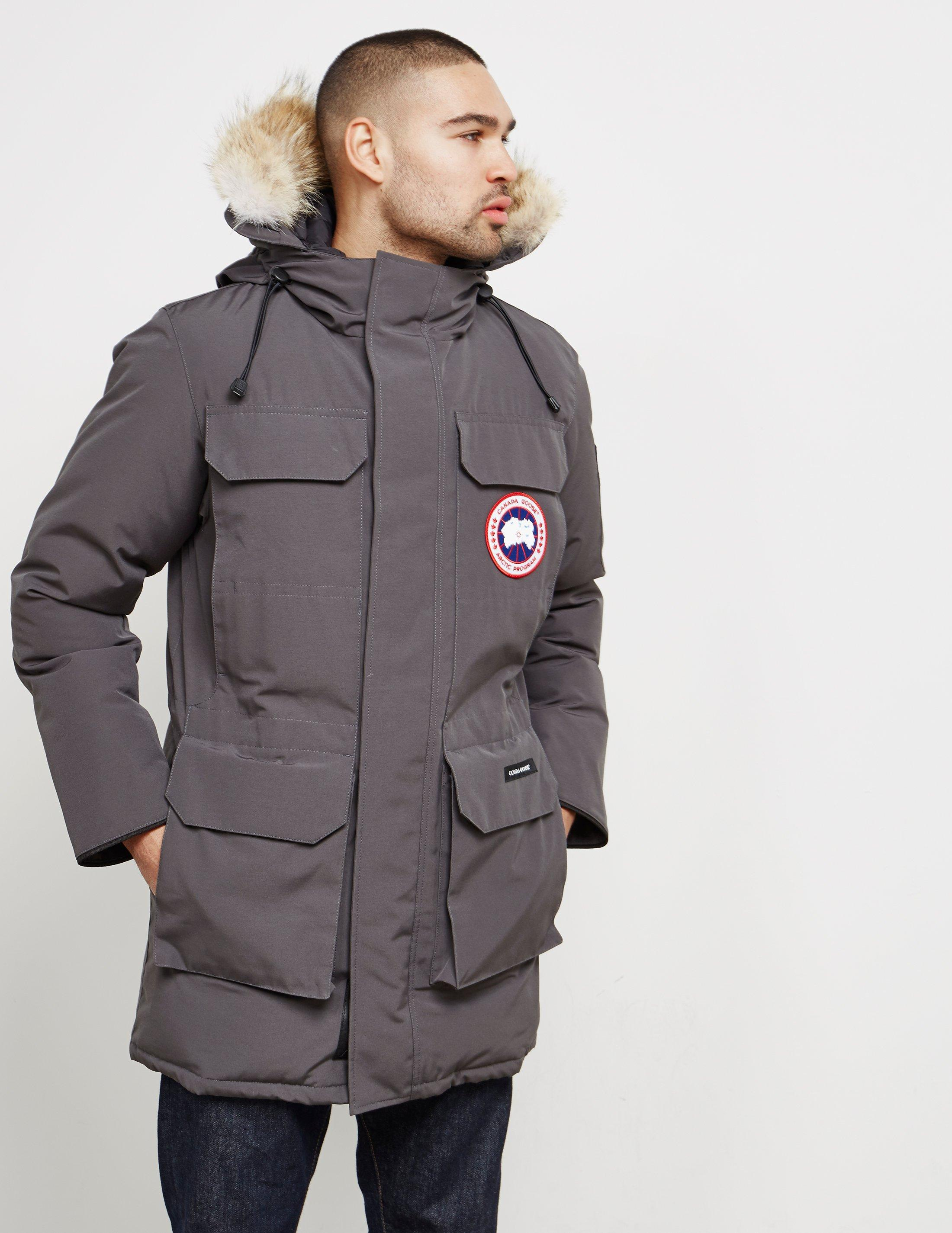 canada goose mens citadel padded parka jacket grey in gray for men rh lyst com au